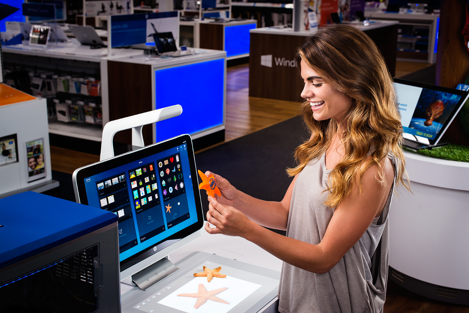 A New Dimension of Creativity:  Introducing a fully-integrated desktop 3D scanning solution from HP. Powered by Intel® RealSense™ technology, Sprout lets you scan 3D objects from the physical world, reimagine them in the digital world, and then bring them back to life with easy 3D print options.