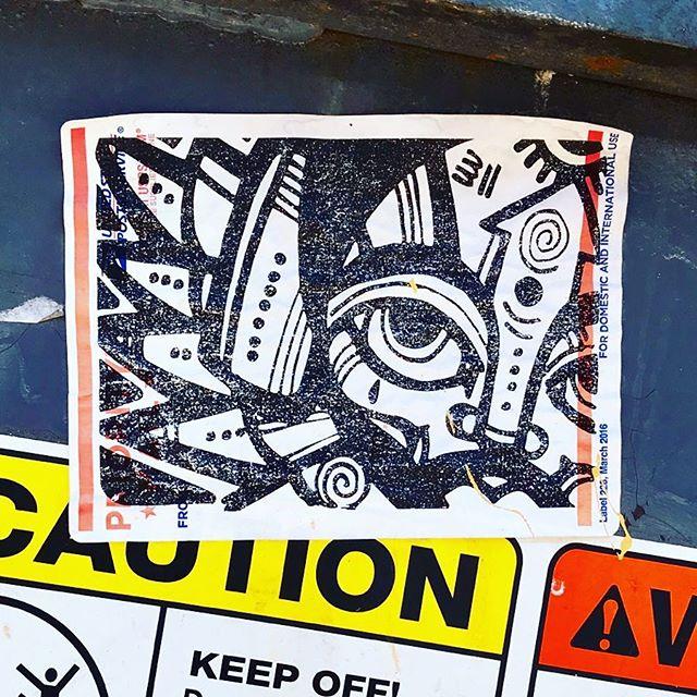 Eye see you! — please tag if you know the artist . . #art #streetartistry #streetartchicago #chicagostreetart #streetarteverywhere #streetartphotography #sticker #stickerart #stickerartist #tribal #tribalart #chicago #ambassadorofgoodcheer #aogc