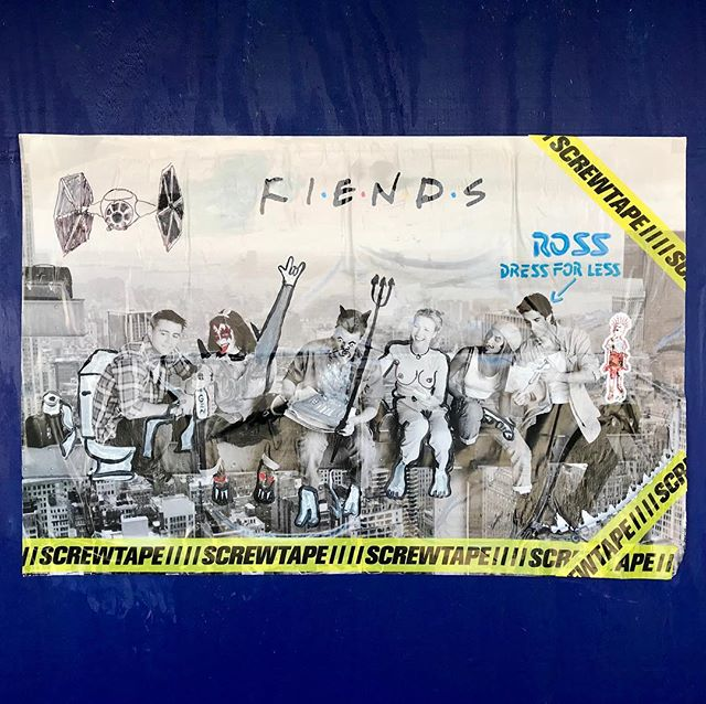🎶 So no one told you life was gonna be this way 🎶 – original work posted in Old Town, Chicago – please tag if you know the artist . #friends #fiends #friendstvshow #wheatpaste #poster #sticker #art #stickerart #streetart #oldtown #chicago #oldtownchicago #screwtape #starwars #kiss #streetarteverywhere #streetartphotography #streetartistry #streetartchicago #chicagostreetart #ambassadorofgoodcheer #aogc