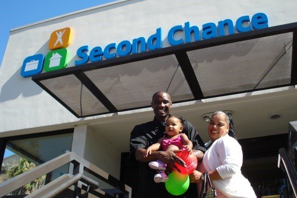 Family in Front of Second Chance