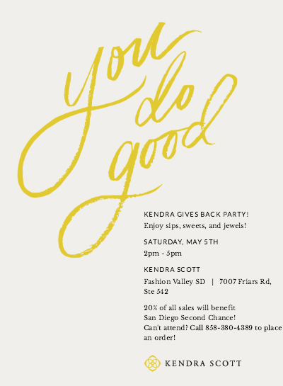 Kendra Scott San Diego event Second Chance