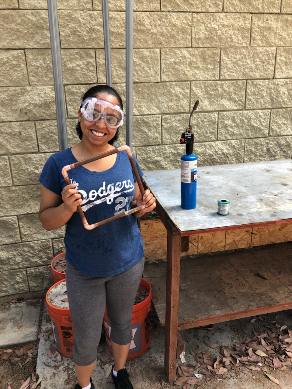 A New career and A brighter future - Second Chance youth graduate Kathyleen learned a new skill and has put it to use as a welder.