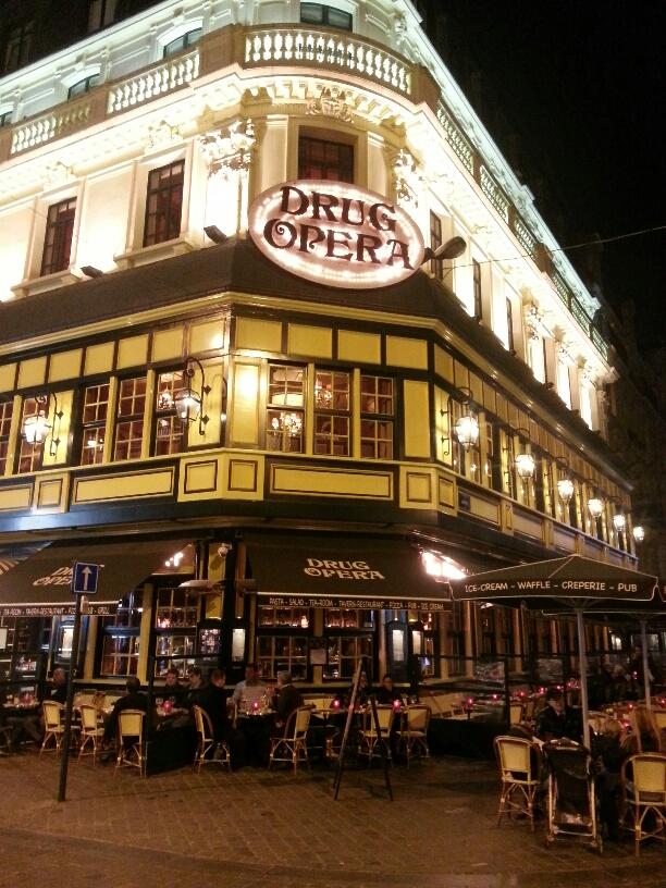 Famed Drug Opera cafe in Brussels' city center