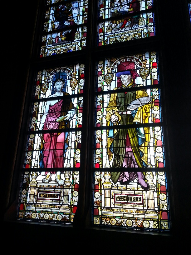 Stained glass windows at Rijksmuseum