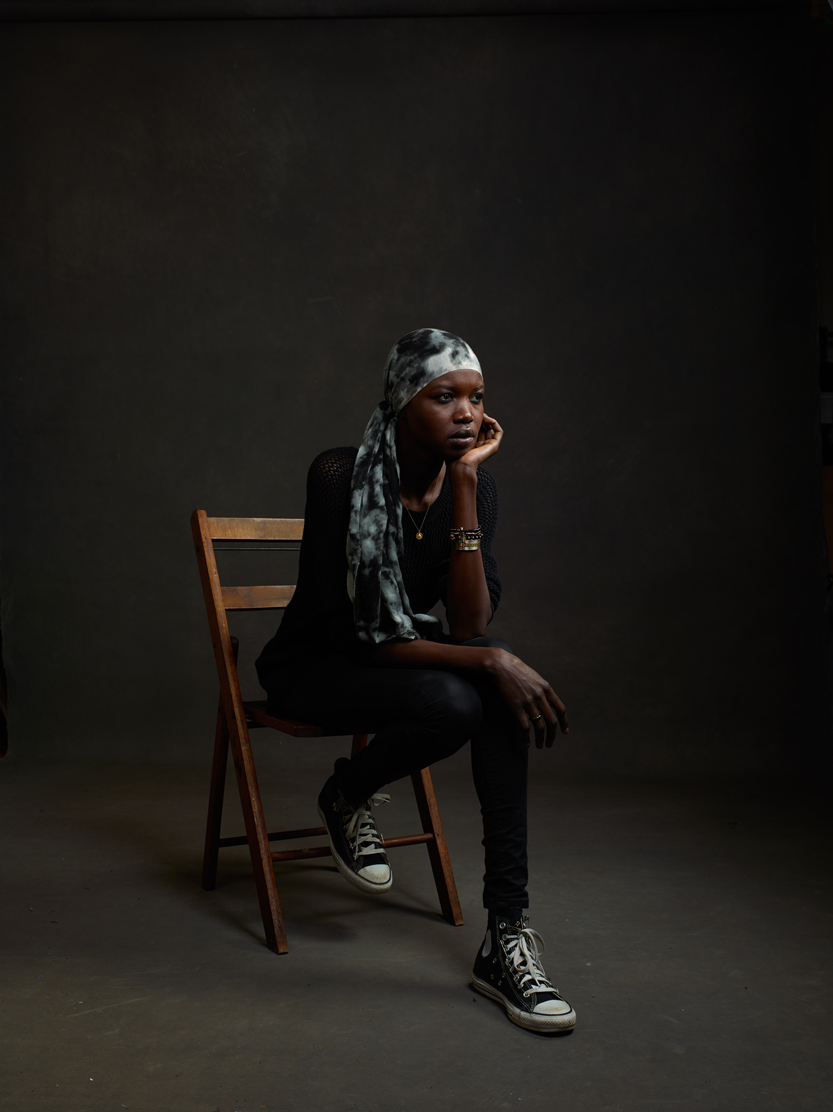 Supermodel/refugee/activist and founder of 'We are Nilotic' Nykor Phor. Photo by Mike Mellia.