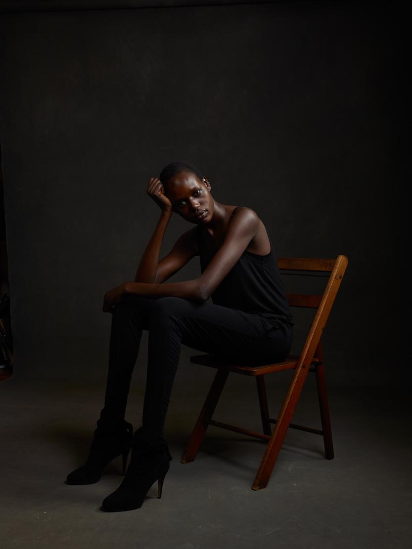 Supermodel/refugee/activist Ajak Deng.Photo by Mike Mellia.