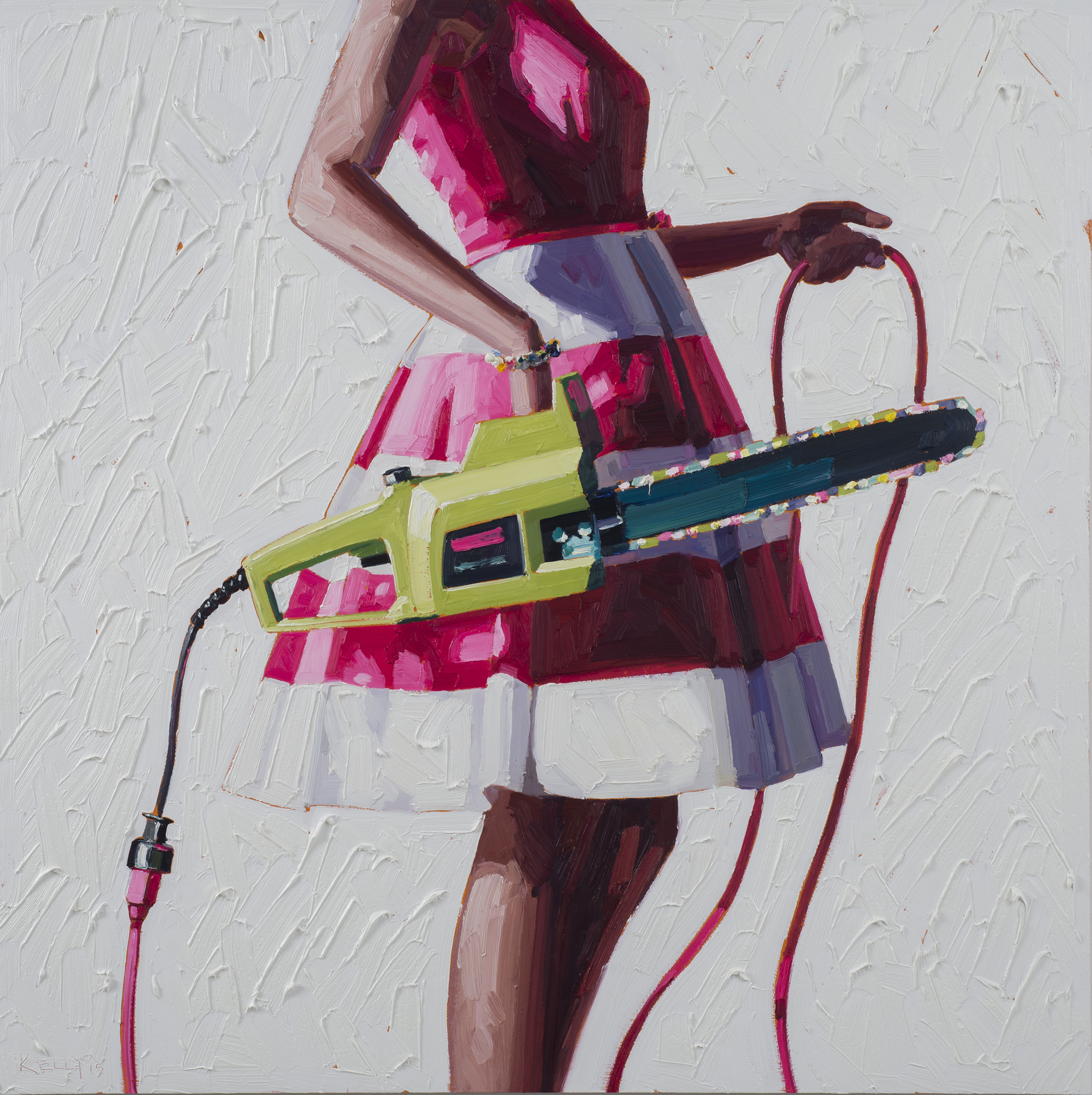Labor Force, 2015, oil on panel, 44 in x 44 in.