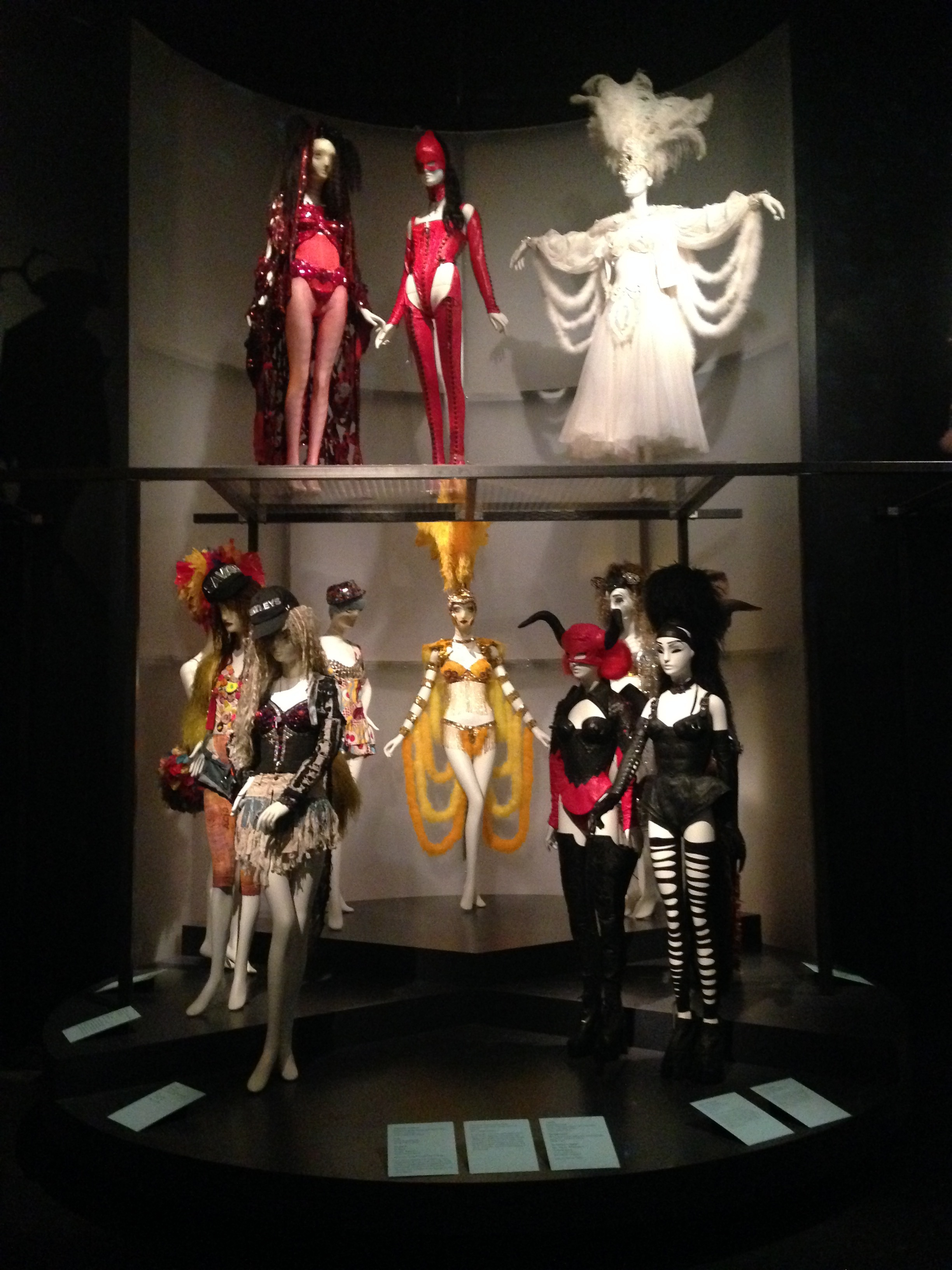 Installation view of 'Fashion Underground: The World of Susanne Bartsch',The Museum at FIT.