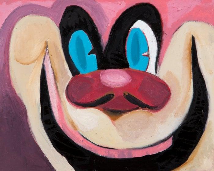 'Cartoon Head Study (The Watcher)', oil on canvas, 2014.