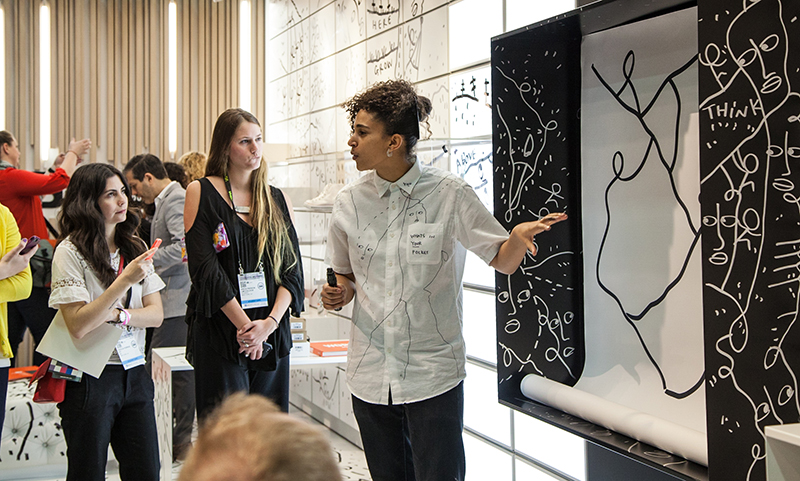 Courtesy of the artist. Shantell Martin on assignment for B +N Industries.