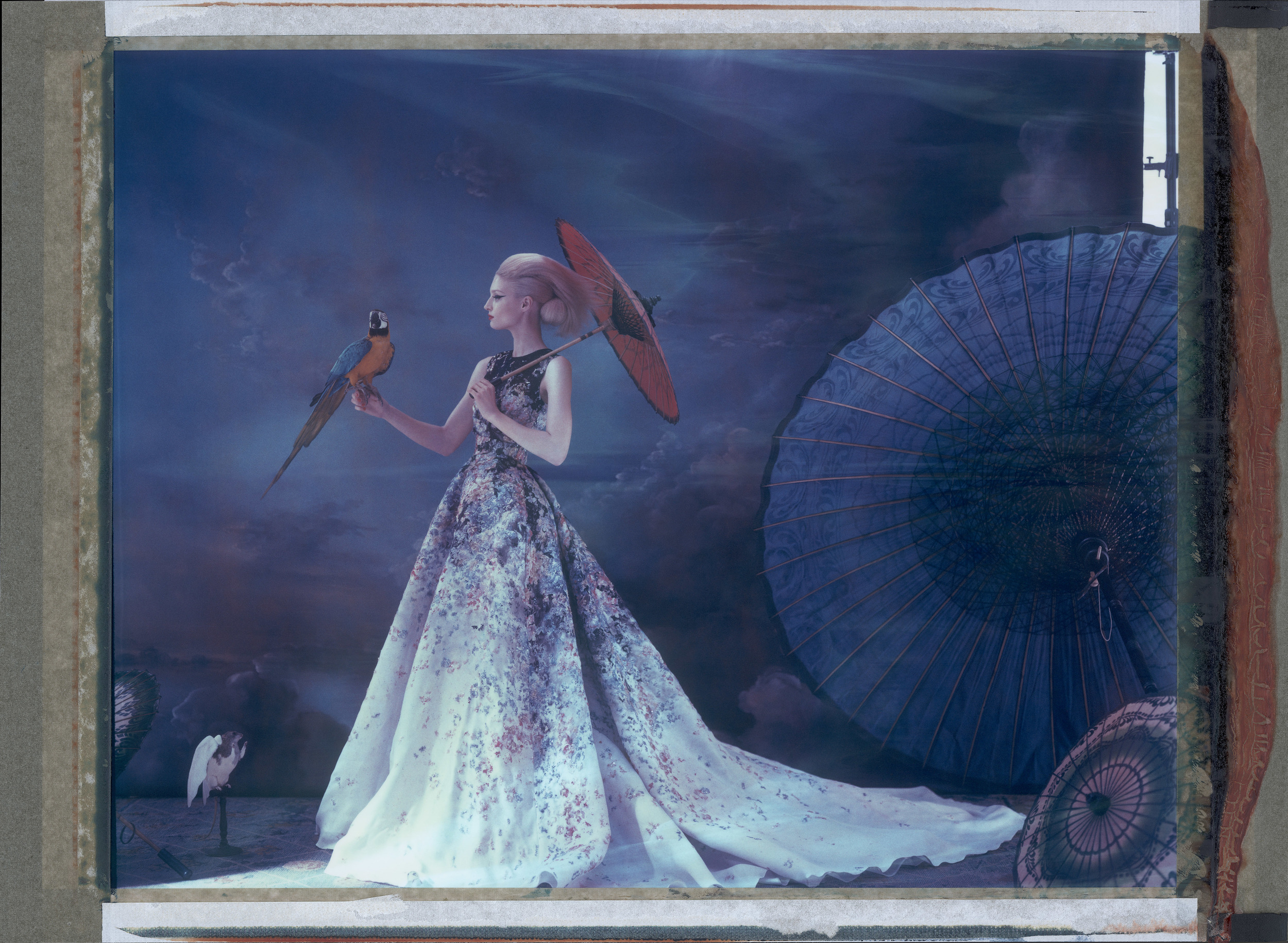 L'ARCHE DE NOÉ XXXIII - ELIE SAAB, HAUTE COUTURE   SUMMER 2014, 2014.   Chromogenic print from original polaroid, 32 x 43 inches (80 x 110 cm).  ©   Cathleen Naundorf / Courtesy Edwynn Houk Gallery, New York & Zürich