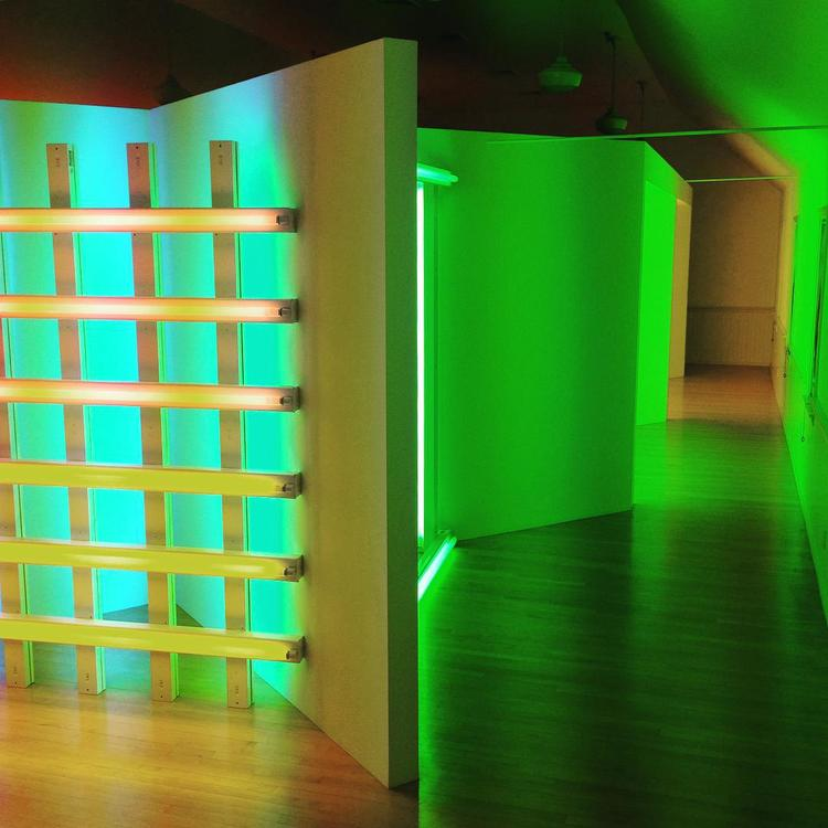 The Dan Flavin Art Institute in Bridgehampton, New York.