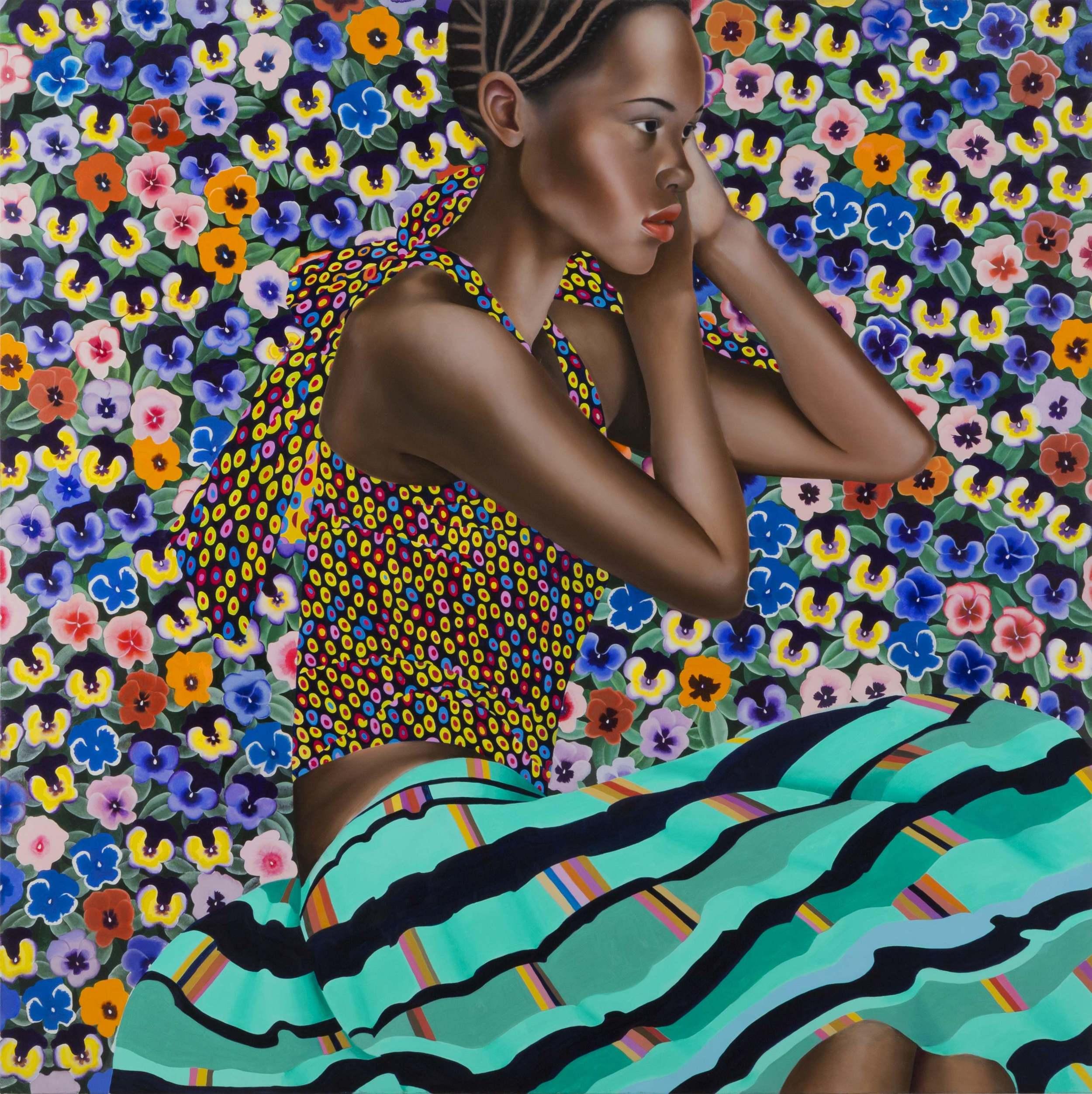 Abundance  , 2015.  Oil on canvas.  36 x 36 inches. **Courtesy of Fredericks & Freiser, NY.