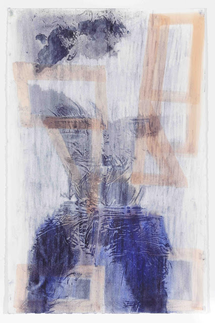 Keltie Ferris, body print, natural oil and pigment on paper.