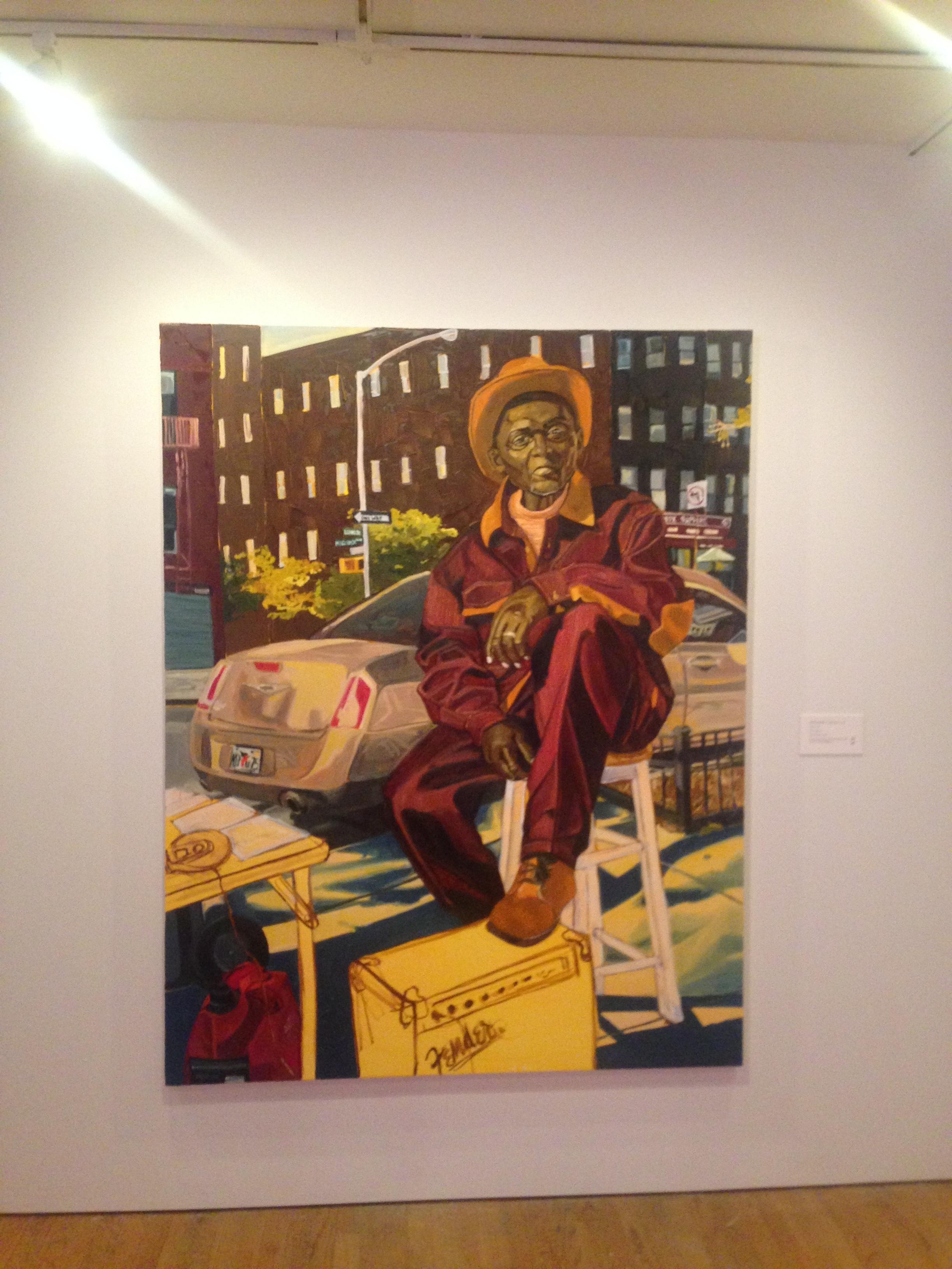 'James', Jordan Casteel, part of 'Tenses', Studio Museum in Harlem, August 2016.
