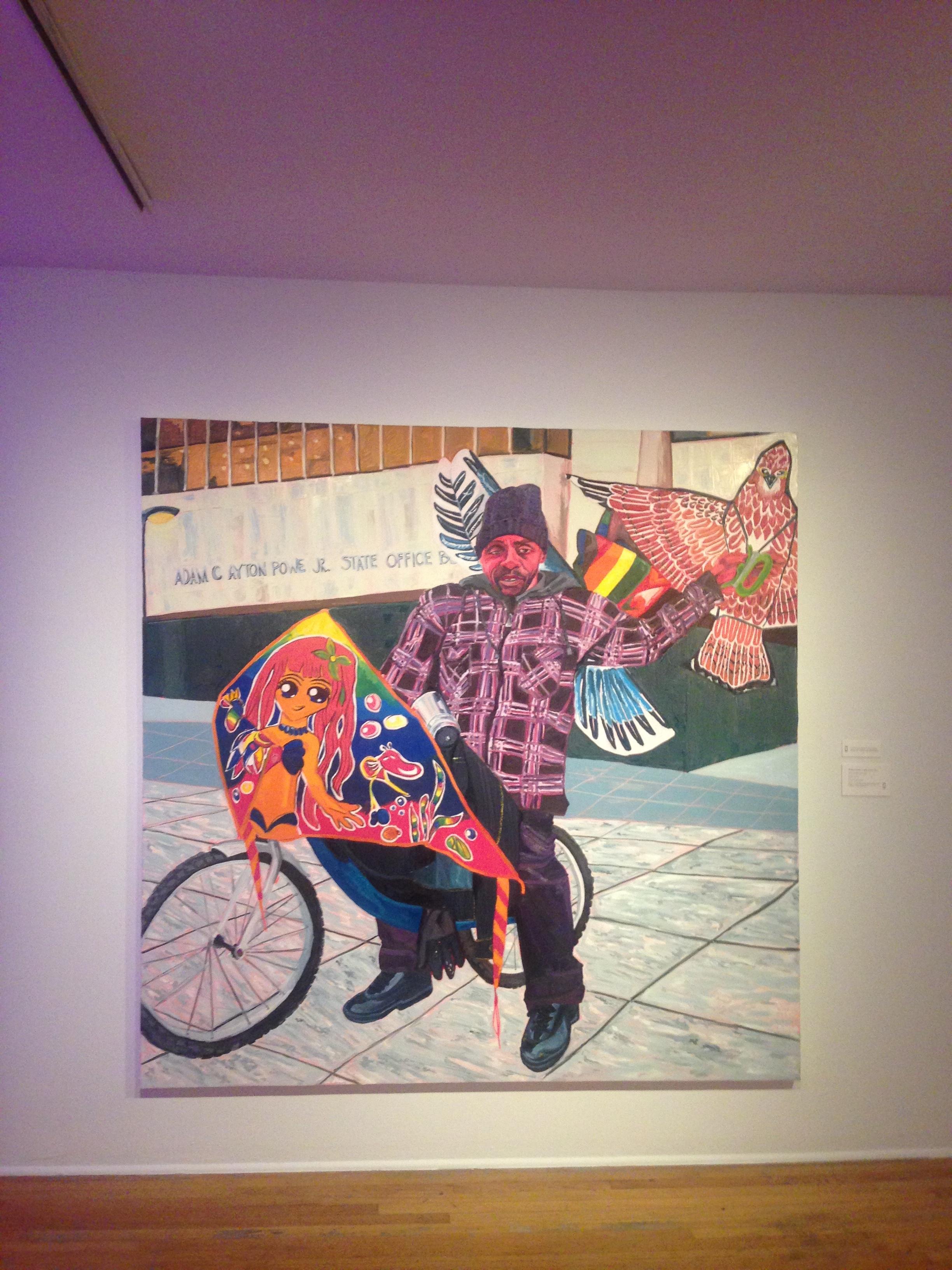 'Kevin the Kiteman', Jordan Casteel, part of 'Tenses', Studio Museum in Harlem, August 2016.