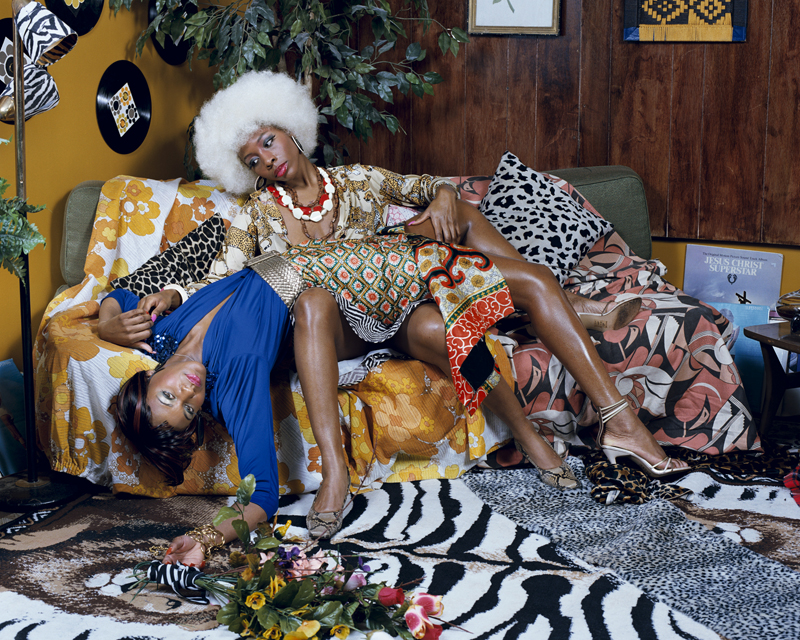 Mickalene Thomas, Le leçon d'amour, 2008 © Mickalene Thomas. Courtesy the artist; Lehmann Maupin, New York and Hong Kong; and Artists Rights Society (ARS), New York
