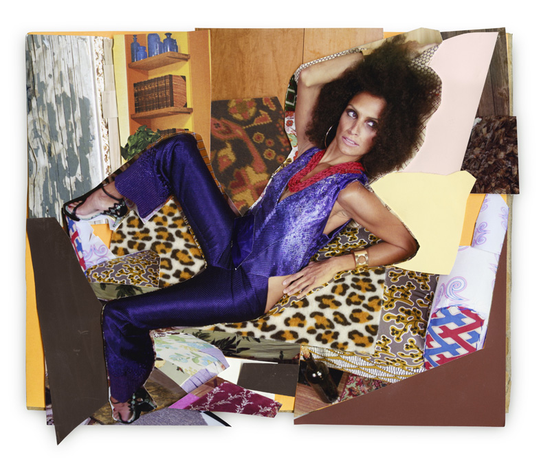 Racquel Leaned Back, 2013 © Mickalene Thomas. Courtesy the artist; Lehmann Maupin, New York and Hong Kong; and Artists Rights Society (ARS), New York