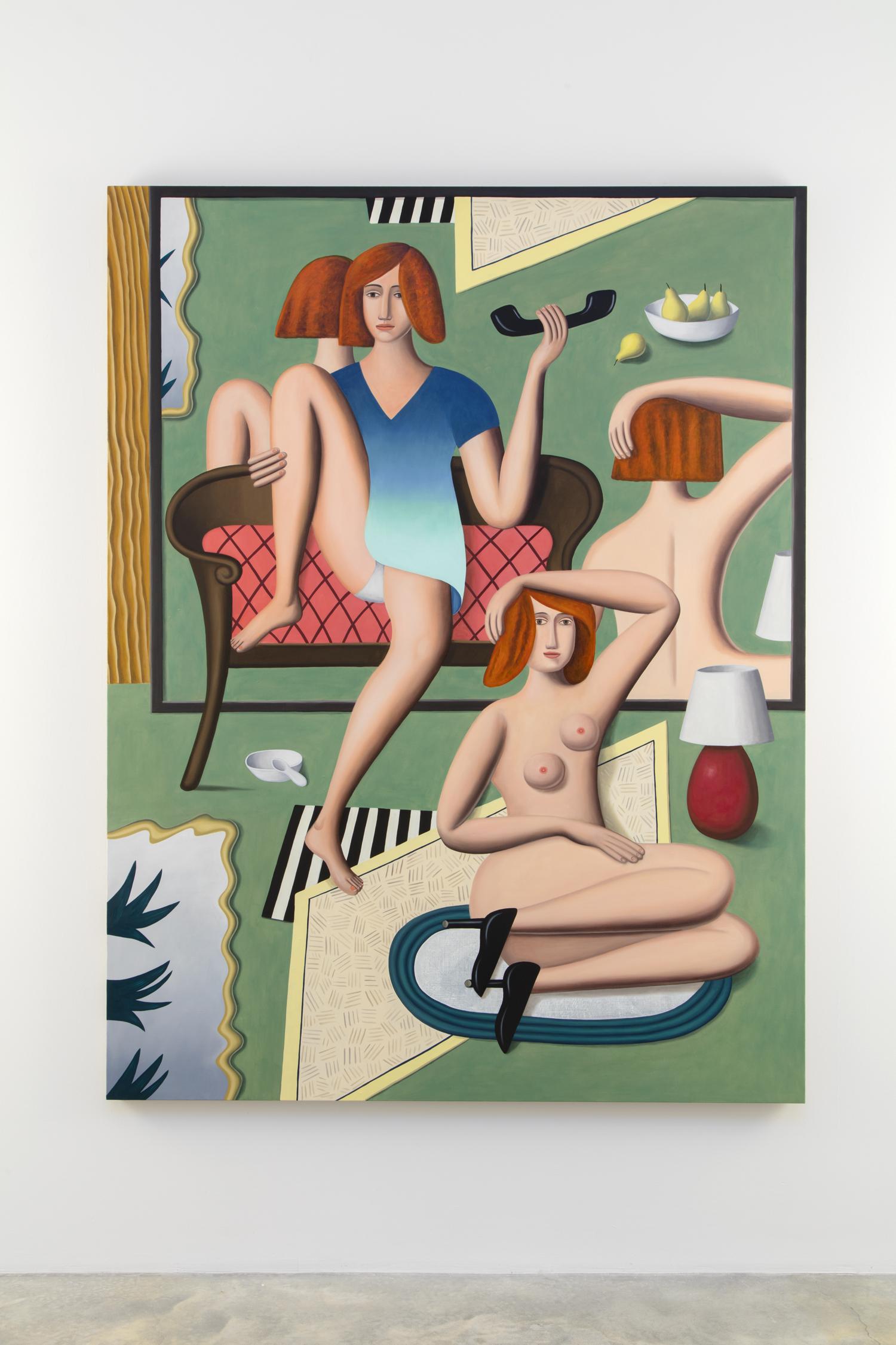 "Jonathan Gardner, In the Mirror, 2016, Oil on linen, 68 x 52"" / 172.72 x 132.08cm. Photo: Jean Vong"