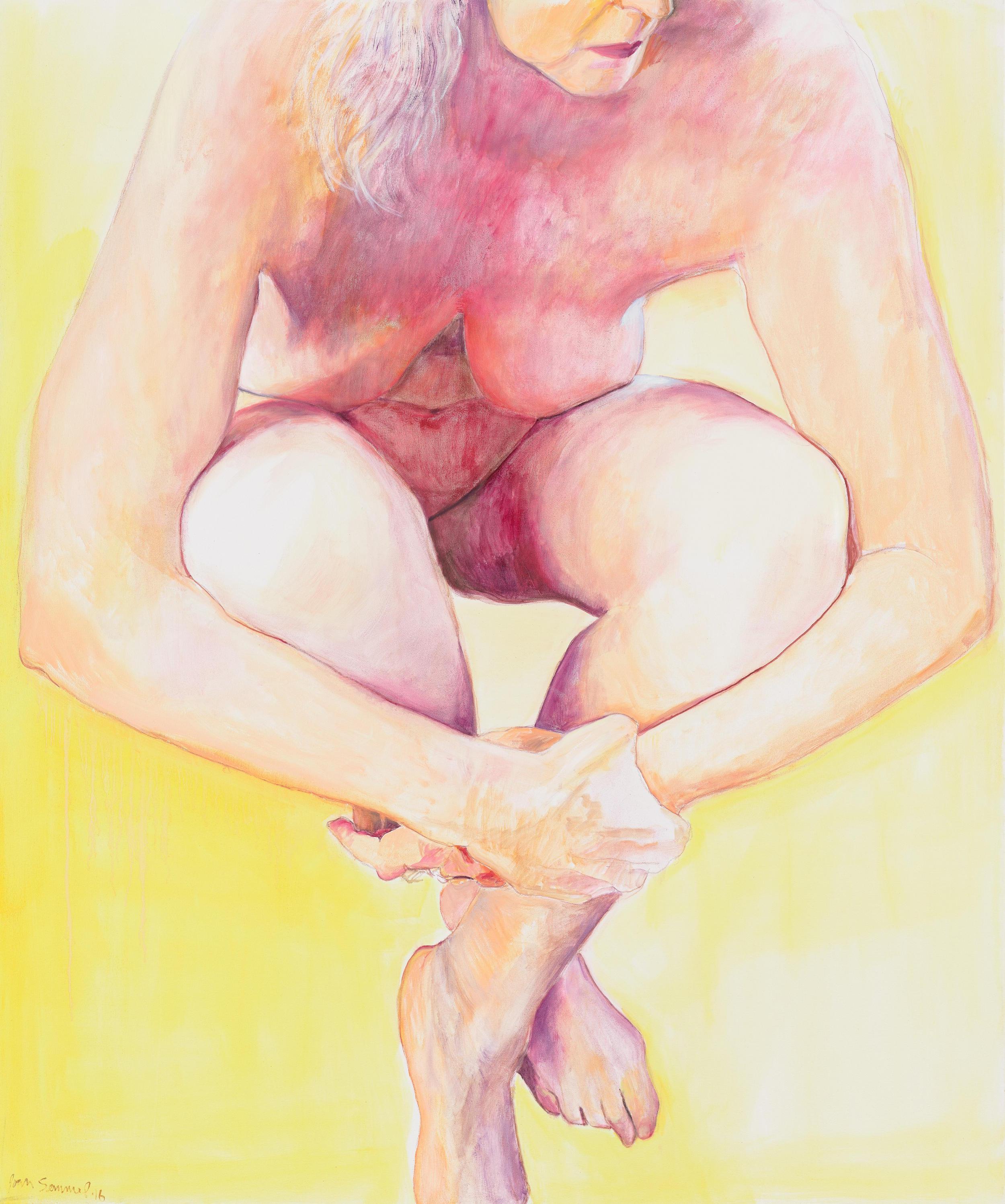 Joan Semmel, Embrace, 2016, Oil on canvas, 72 x 60 in, (182.88h x 152.4w cm) Courtesy Alexander Gray Associates, New York © 2016 Joan Semmel/Artists Rights Society (ARS), New York