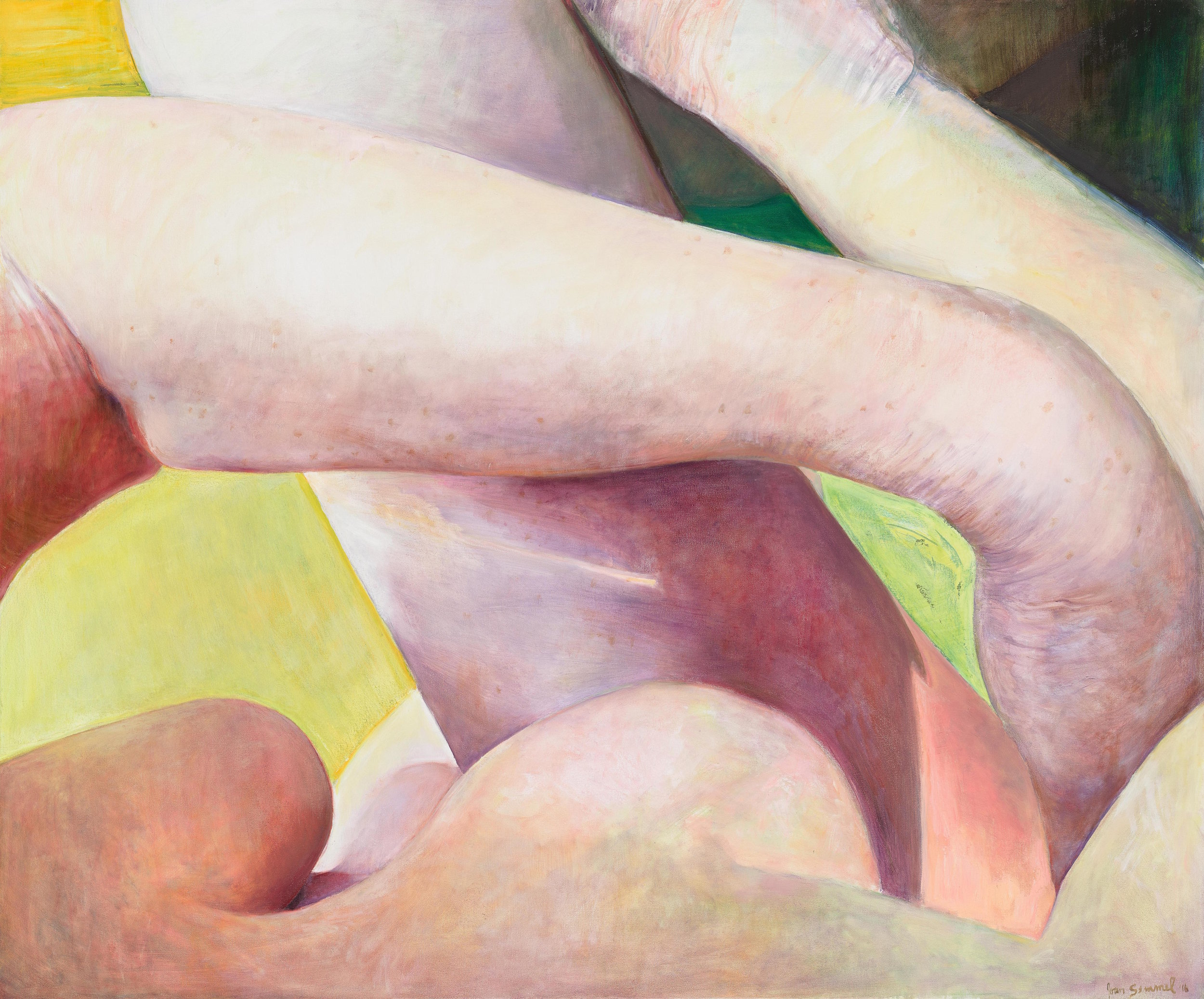 Joan Semmel, Crossed Limbs, 2016, Oil on canvas, 60 x 72 in, (152.4h x 182.88w cm) Courtesy Alexander Gray Associates, New York © 2016 Joan Semmel/Artists Rights Society (ARS), New York