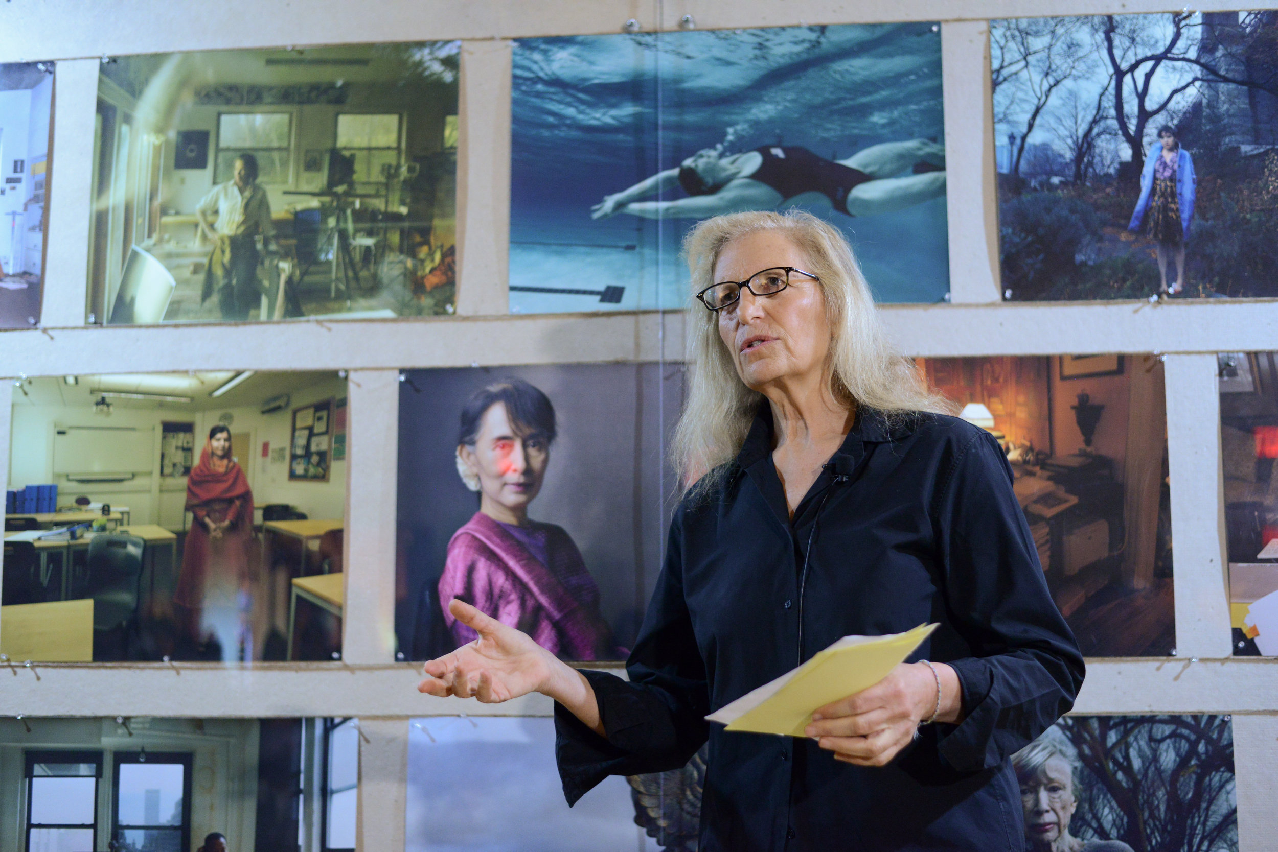 Annie Leibovitz at WOMEN: New Portraits, commissioned by UBS. The former Bayview Correctional Facility, the future home of The Women's Building, 18 November – 11 December 2016 © Casey Kelbaugh