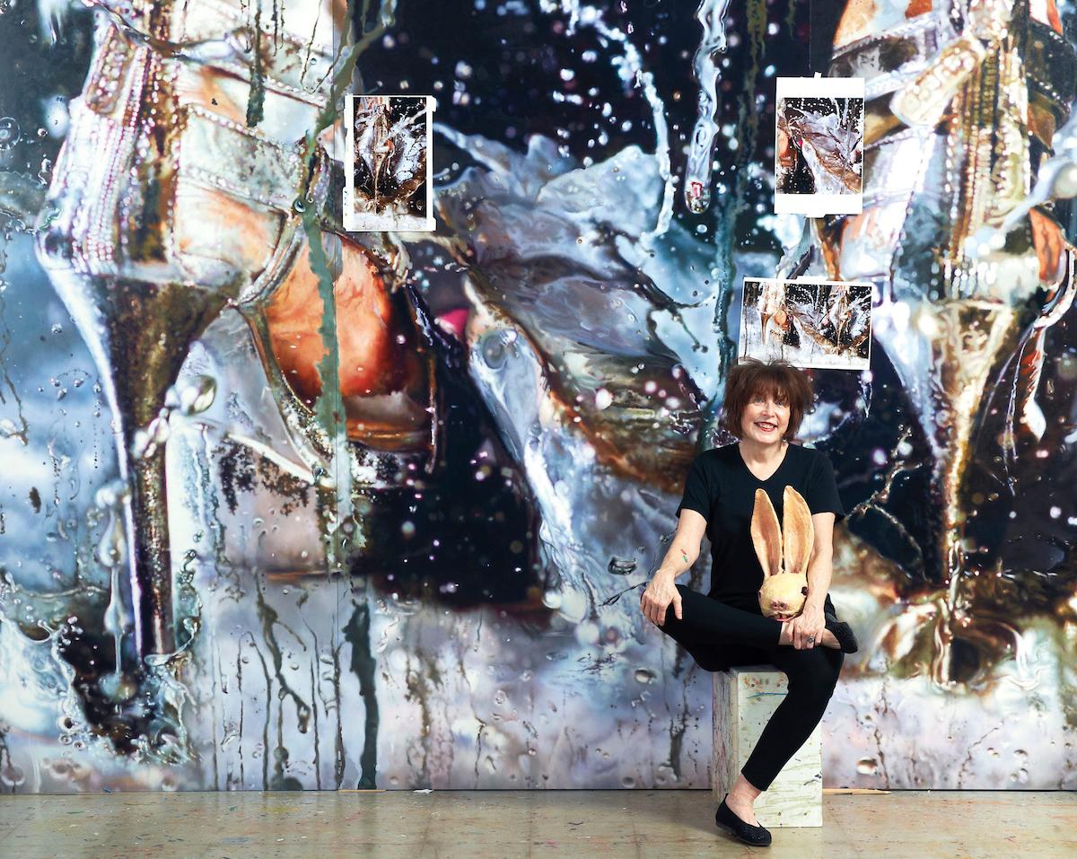 Marilyn Minter in her studio, 2015. Photo by Jason Schmidt.