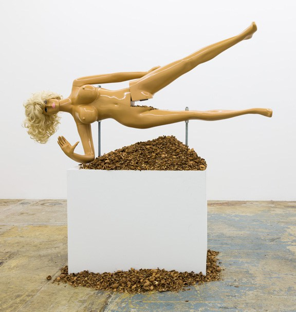 Jennifer Rubell,  Lysa III , 2014; Fiberglass, resin, and steel, 72 x 62 x 24 in.