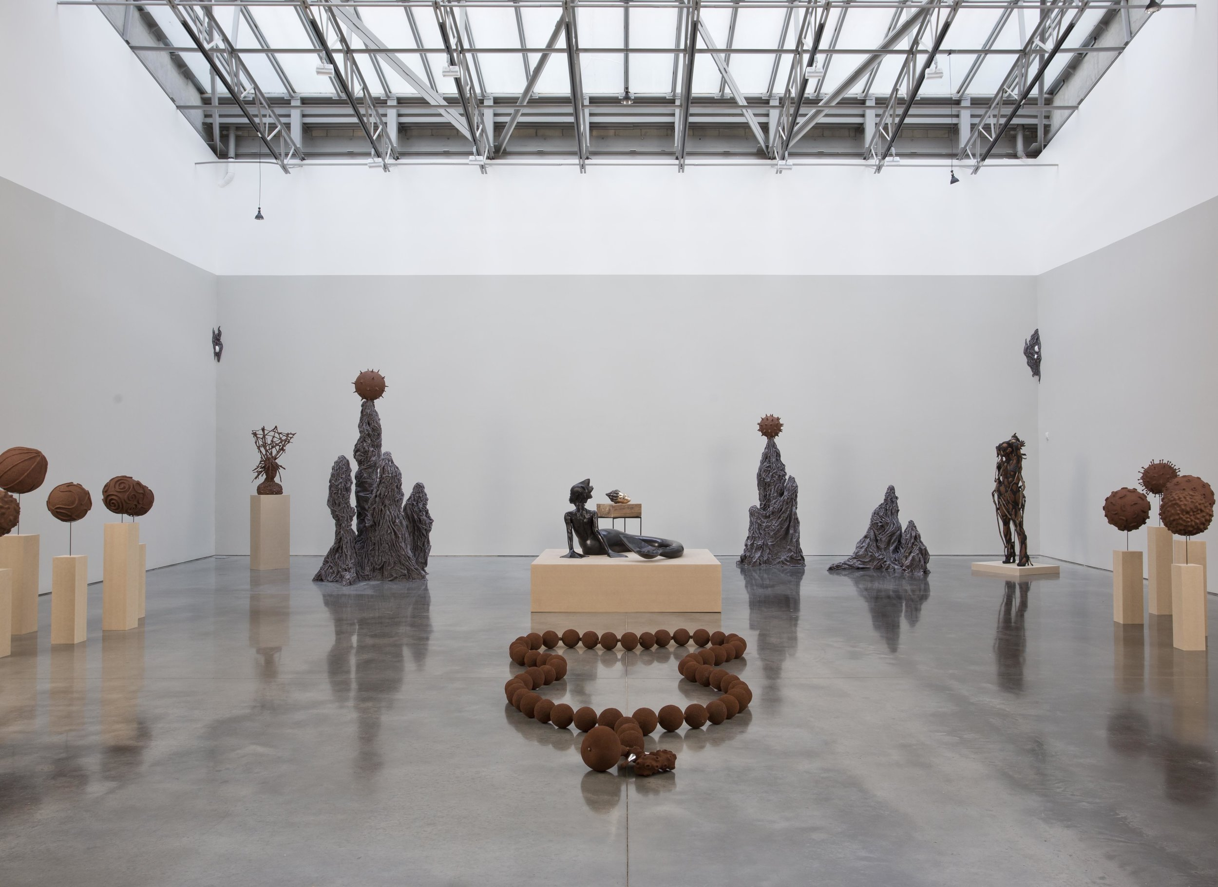 Wangechi Mutu, Ndoro Na Miti. Installation view: Gladstone Gallery, New York  January 27-March 25, 2017, Copyright Wangechi Mutu.  Courtesy the artist and Gladstone Gallery, New York and Brussels. Photo by David Regen