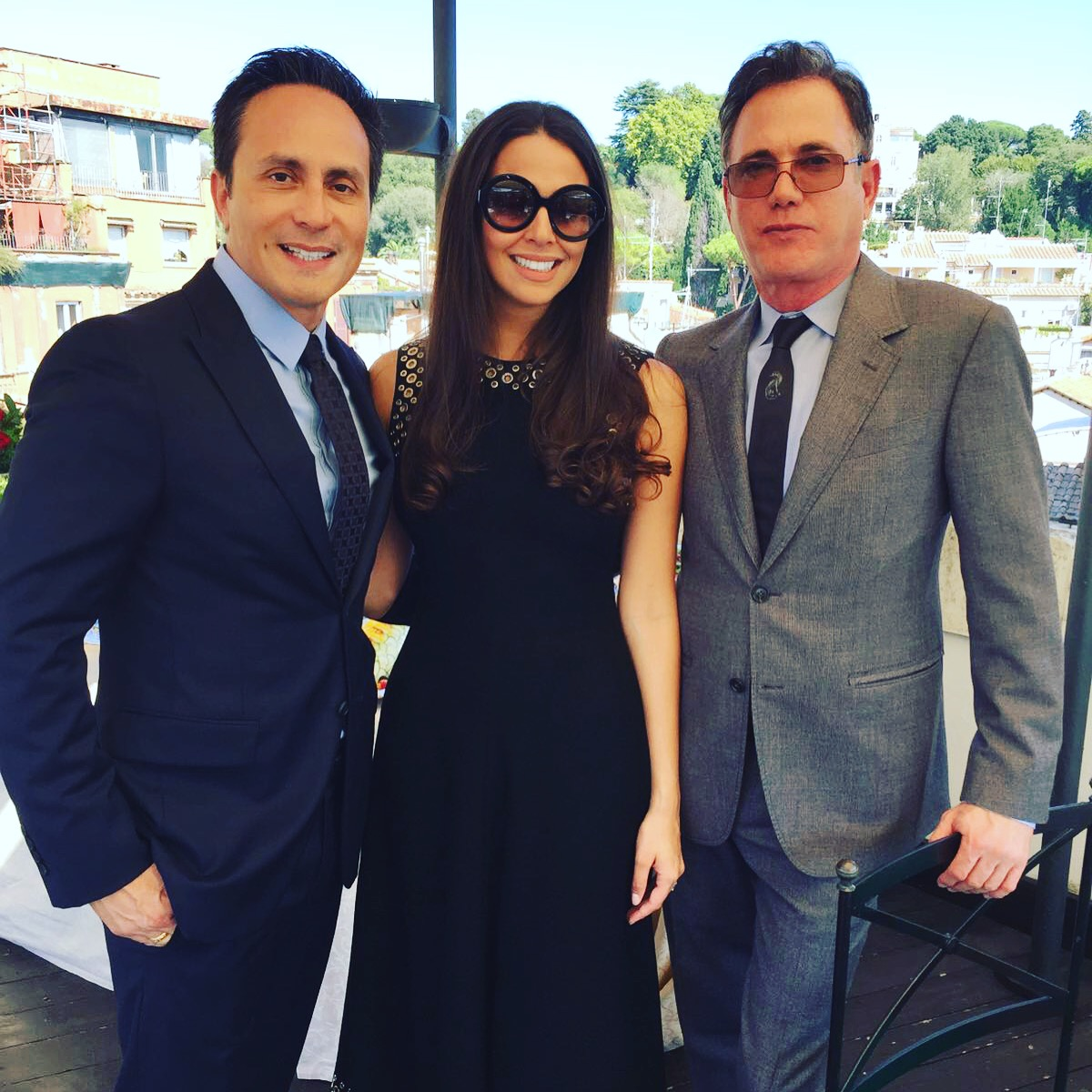 Carolina Alvarez-Mathies with Y.ES Contemporary's Council Members Mario Cader-Frech and Robert S. Wennett