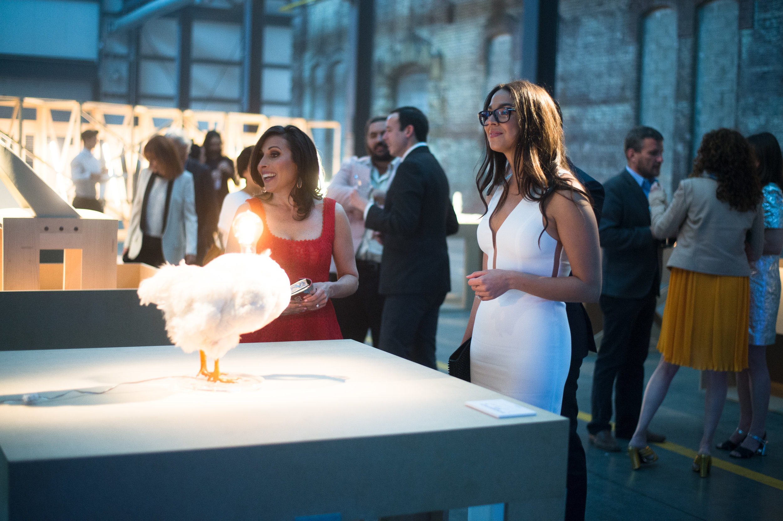 Carolina Alvarez-Mathies with Creative Time's Executive Director Katie Hollander at the Creative Time Gala (2016)
