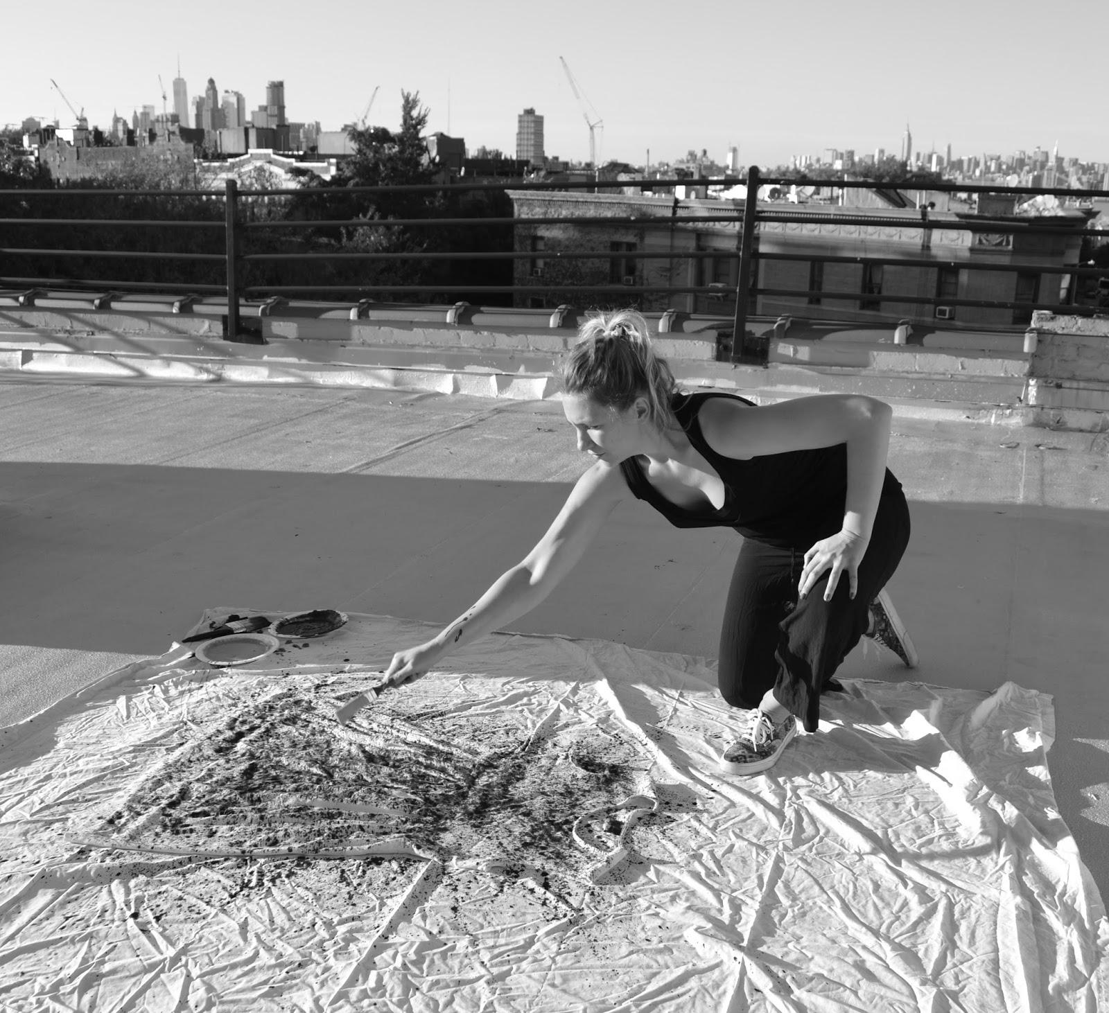 Artfully Awear x Jackson Pollock Action Painting.Courtesy of Ariel Adkins.
