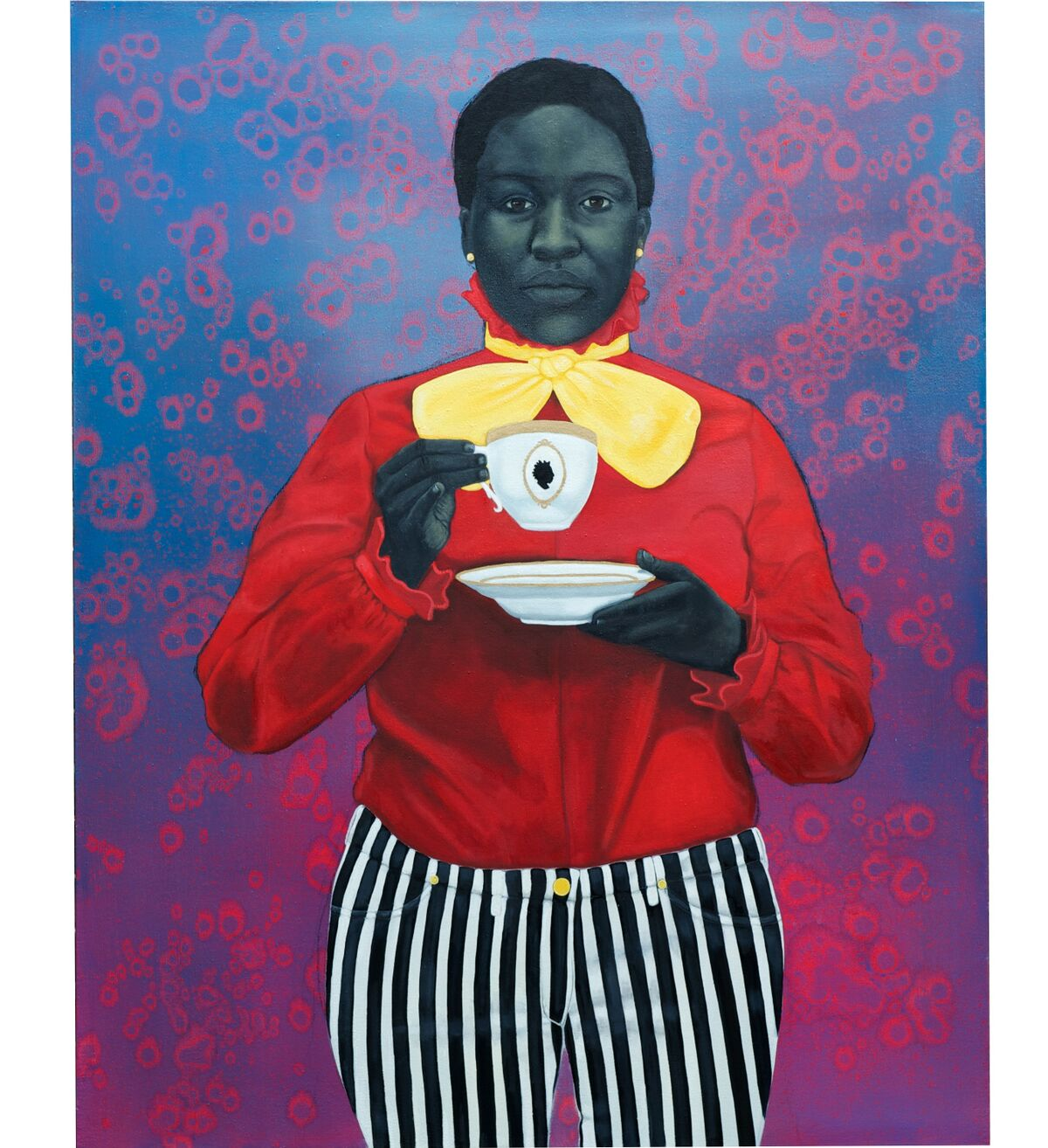 Amy Sherald, Grand Dame Queenie, 2013, oil on canvas, 54 x 43 in. (137.2 x 109.2 cm). Public Collection, National Museum of African American History and Culture, Washington, D.C. Courtesy the artist and Monique Meloche Gallery, Chicago.