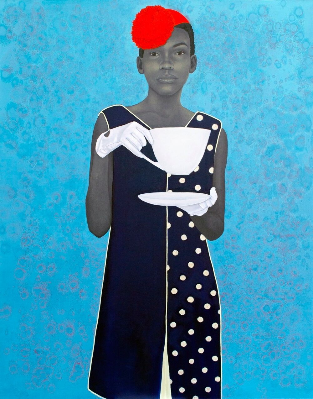 Amy Sherald, Miss Everything (Unsuppressed Deliverance), 2014, oil on canvas. 54 x 43 in. (137.2 x 109.2 cm). Public Collection, Smithsonian National Portrait Gallery, Washington, D.C. Courtesy the artist and Monique Meloche Gallery, Chicago.