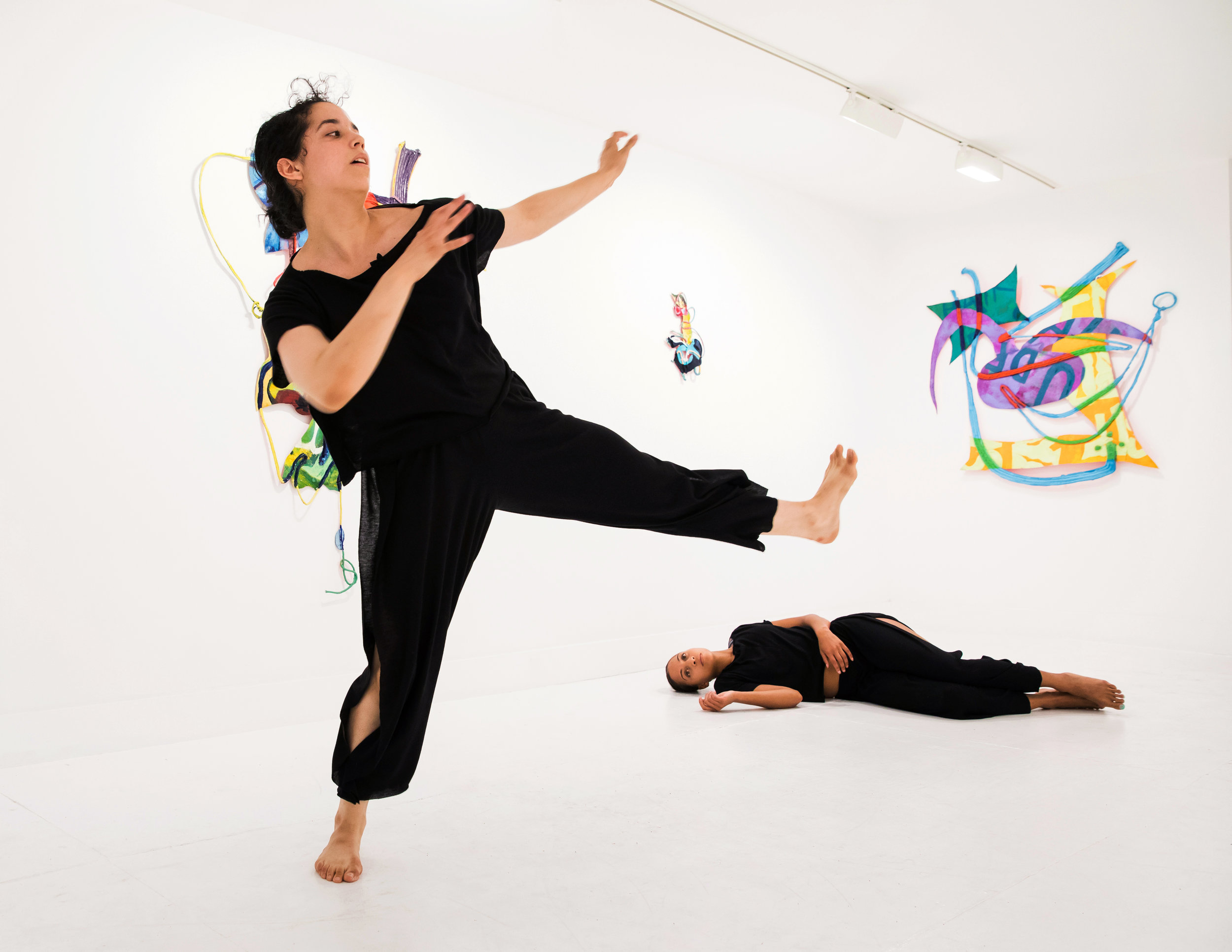 Special performance with Megan Marcano during the 'Coco Currents' exhibit. Courtesy of TURN Gallery.