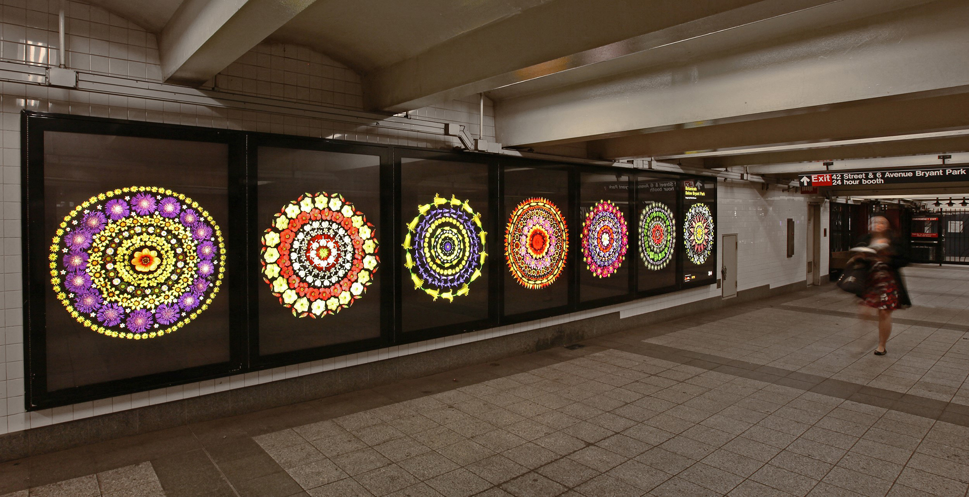 NYC MTA Arts for Transit,Bryant Park MTA Station, Portia Munson. Photo by Rob Wilson/MTA.