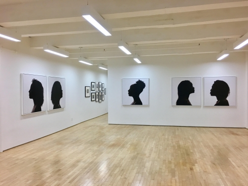 """Installation view of 'Silhouettes"""". Courtesy of the Laurence Miller Gallery."""