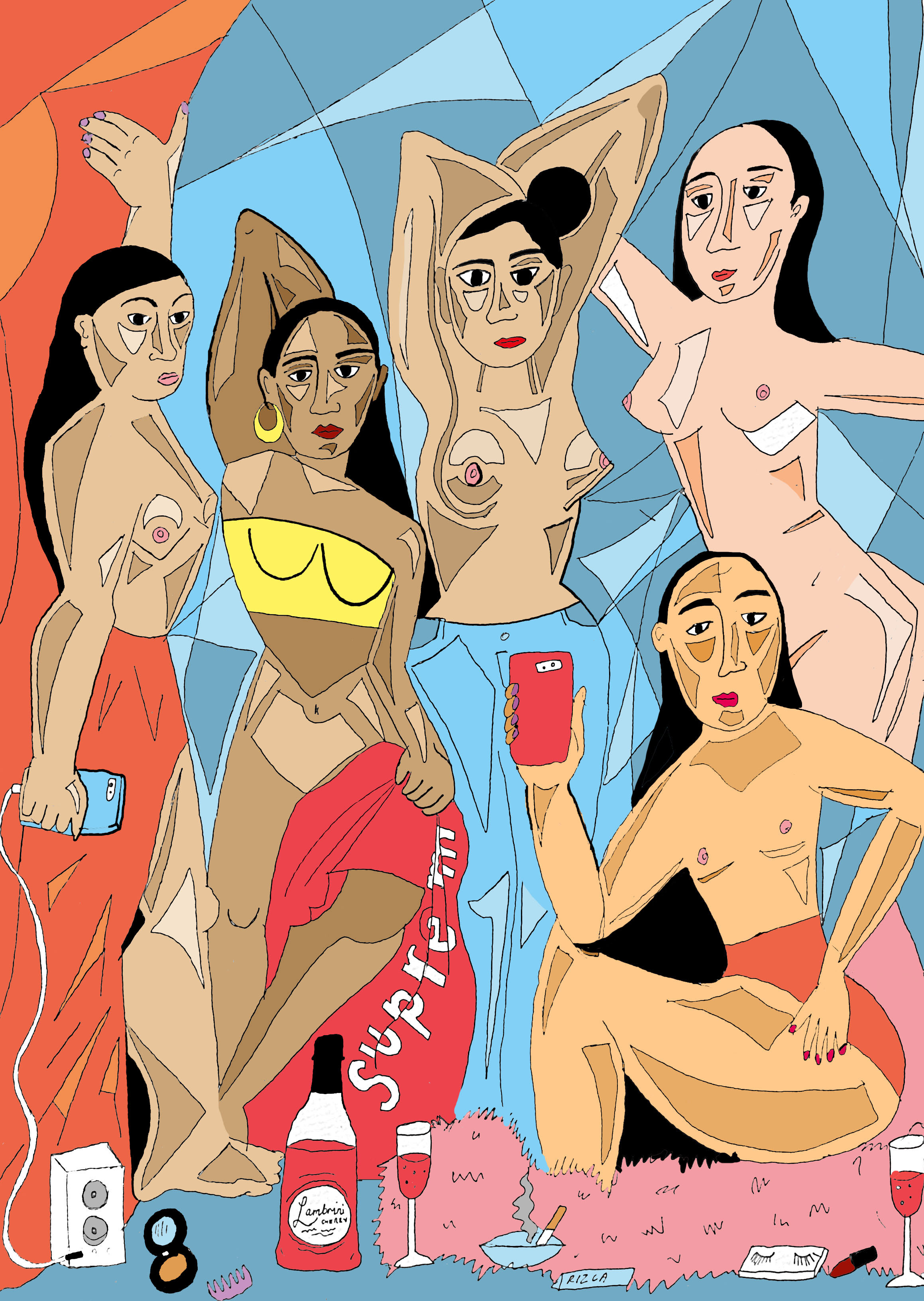 Alice Skinner, When Girls Get ready Together and Take A Group Pic, 2016, courtesy of Alice Skinner