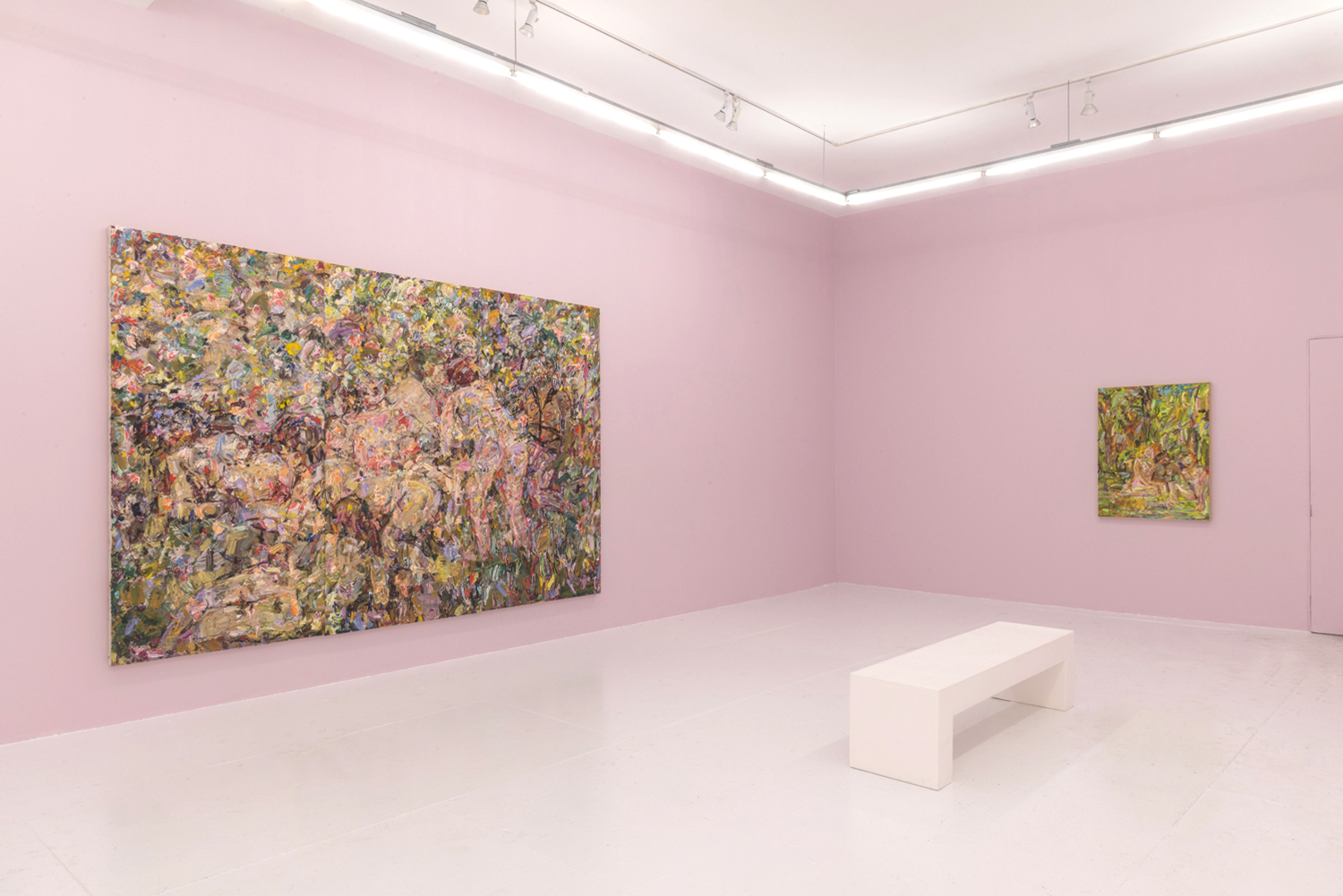 Installation view of  In the Pink , 2018. Courtesy of The Hole, New York.