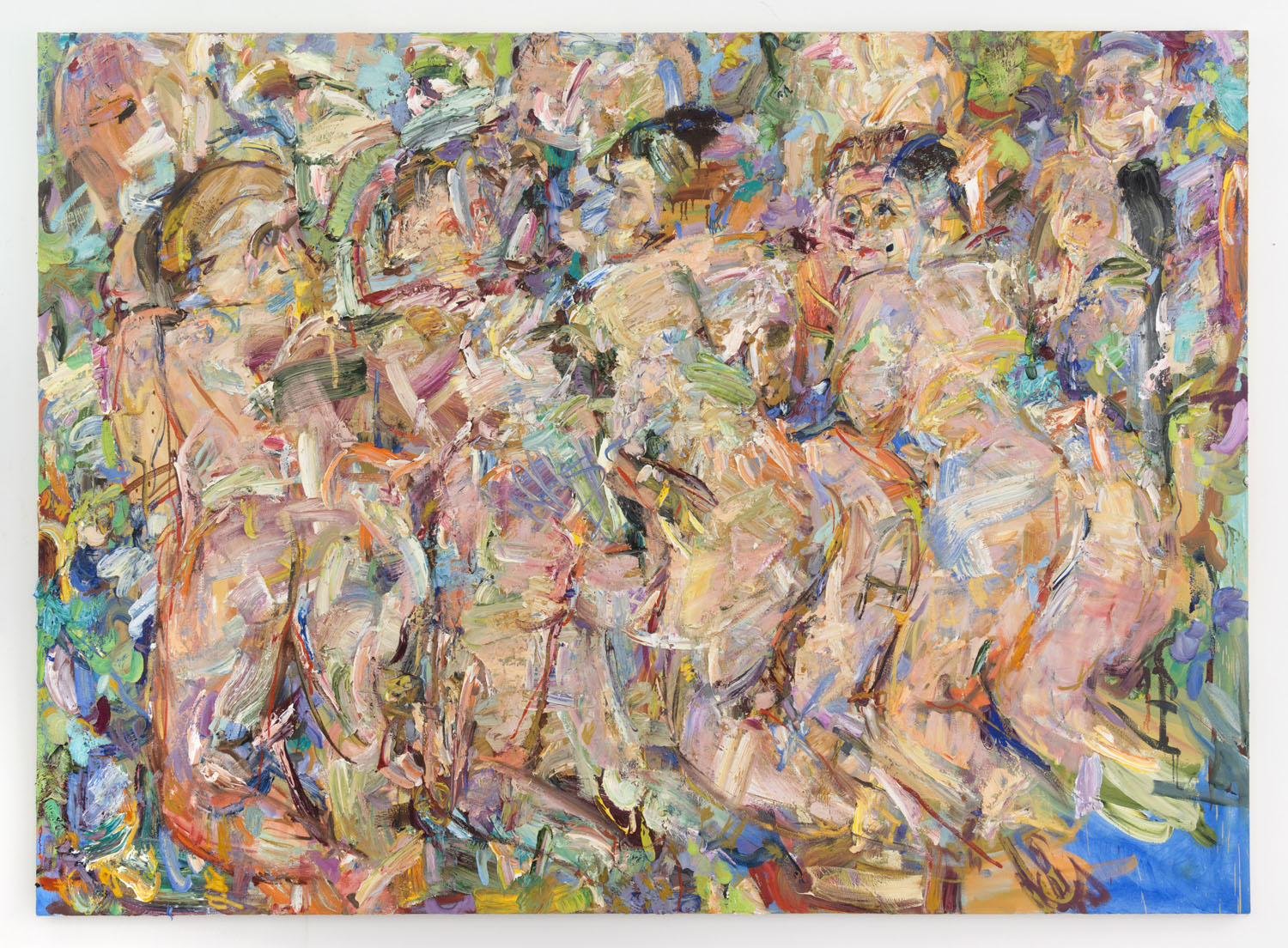 Asking for It,  2018, oil on canvas, 72 x 100 inches, 183 x 254 cm.  Courtesy of The Hole, New York.