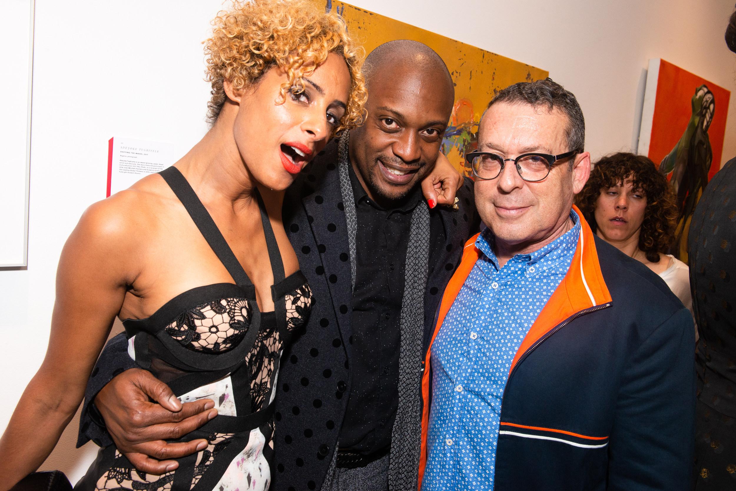 Delphine Diallo, Hank Willis Thomas, Jack Shainman. Photo by BFA.