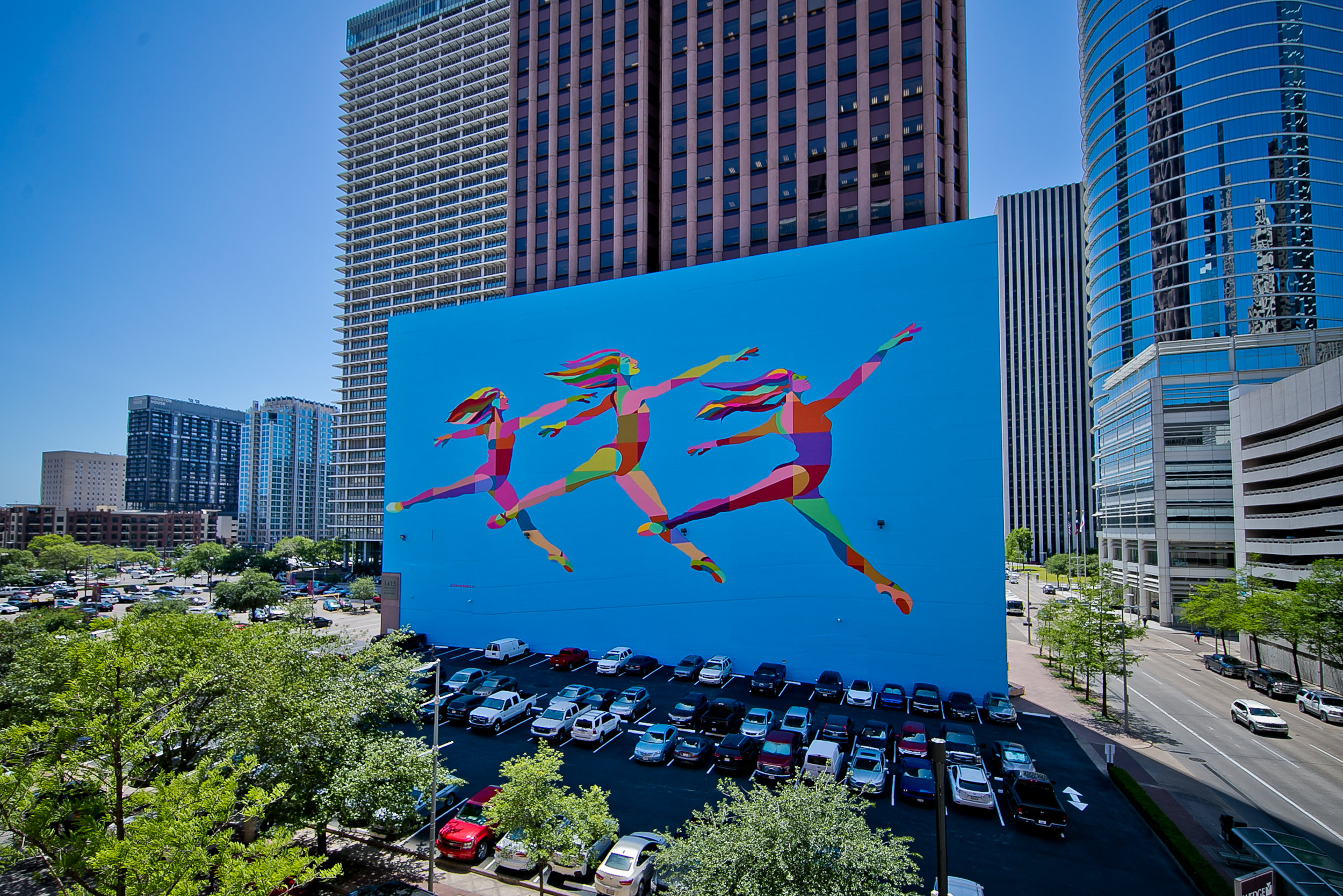 Skydance Mural, Houston, Texas. Photo by Morris Malakoff.