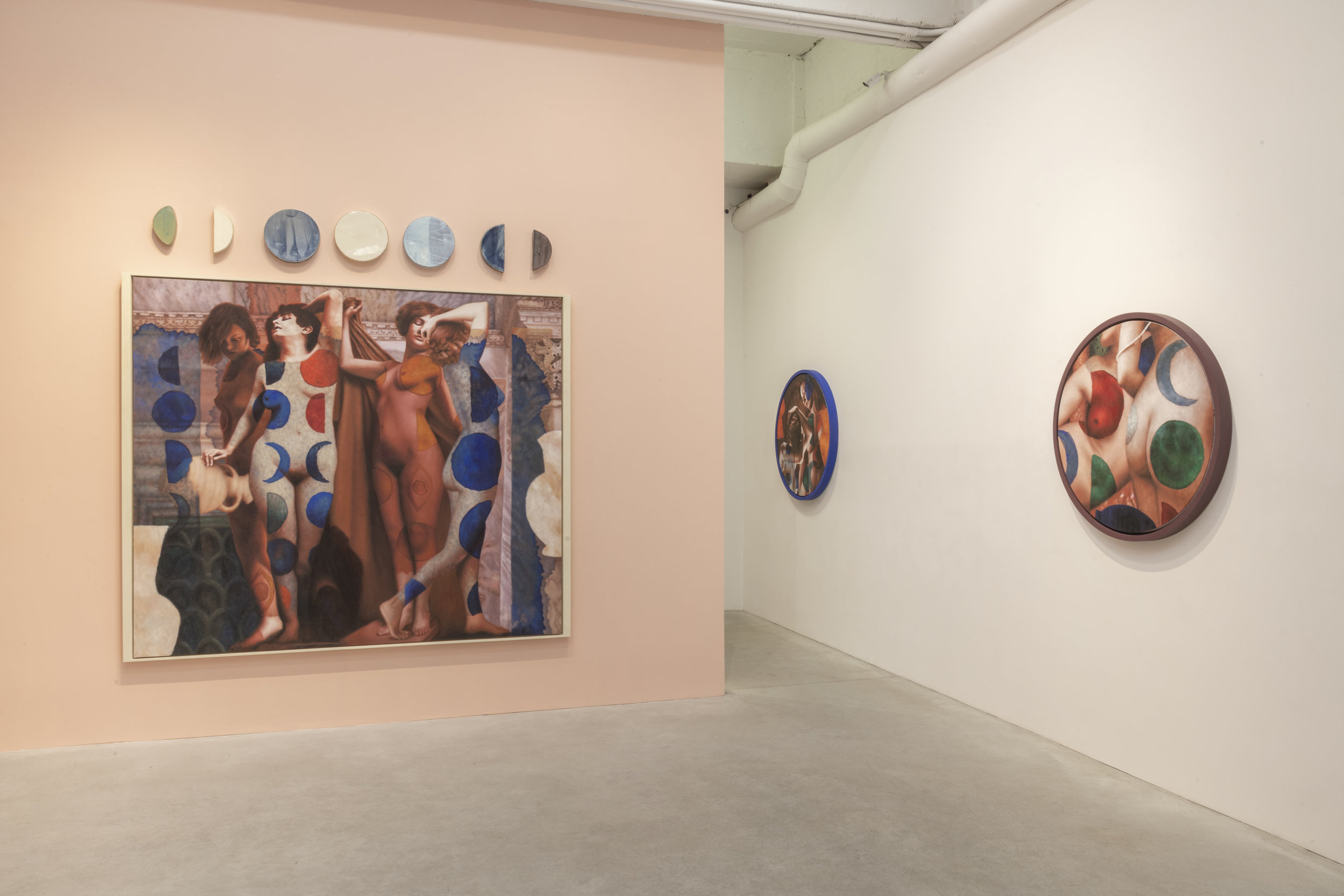 Alison Blickle, The Myth of Inanna, Installation View. Courtesy of the artist and Kravets Wehby Gallery.