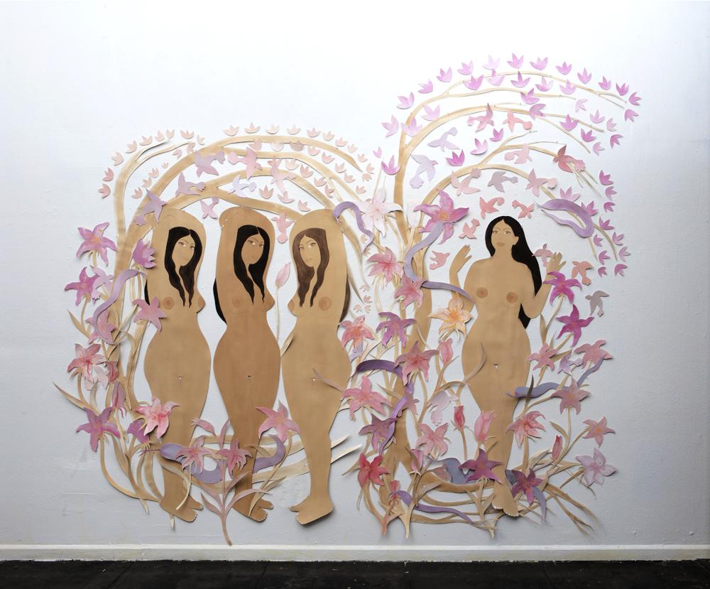 Hiba Schahbaz, The Garden, Installation Details, New Image Art Gallery, 2018.