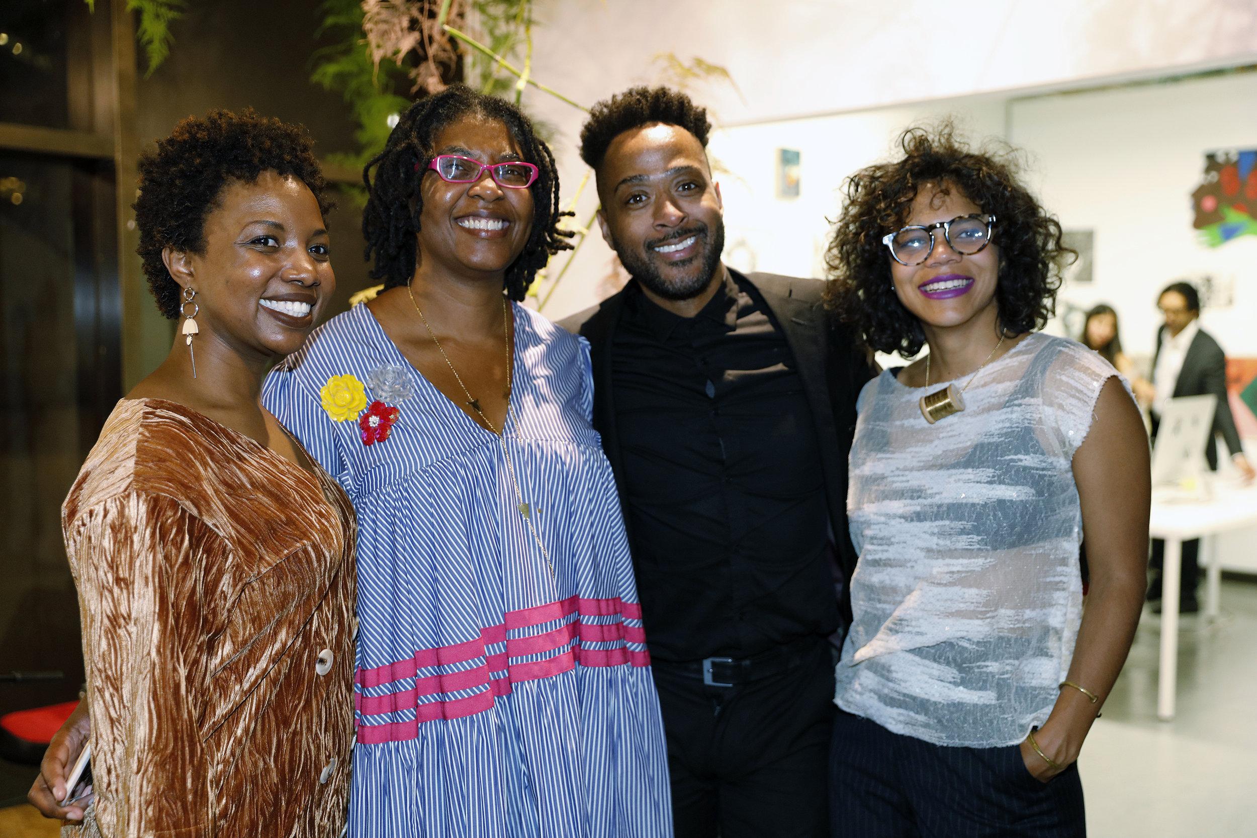 Ayesha Willams, BAWA honoree Kemi Ilesanmi, Curtis Young, Lizania Cruz. Photo by Anthony Alvarez.