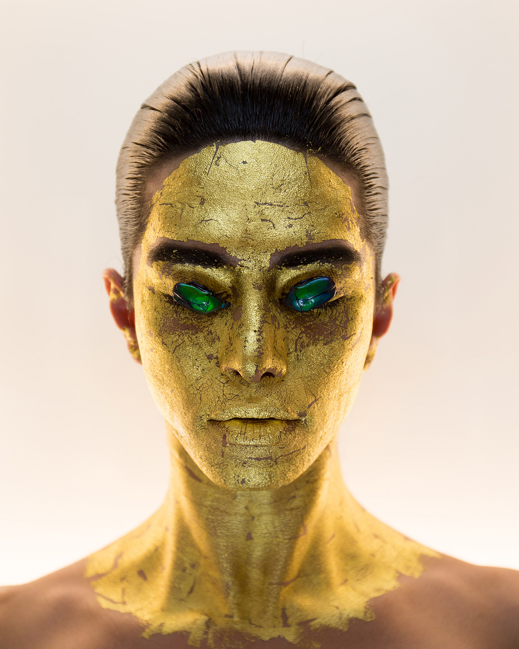 Masking, 24K Gold Mask, p.46, (c) Martine Gutierrez; Courtesy of the artist and RYAN LEE Gallery, New York.