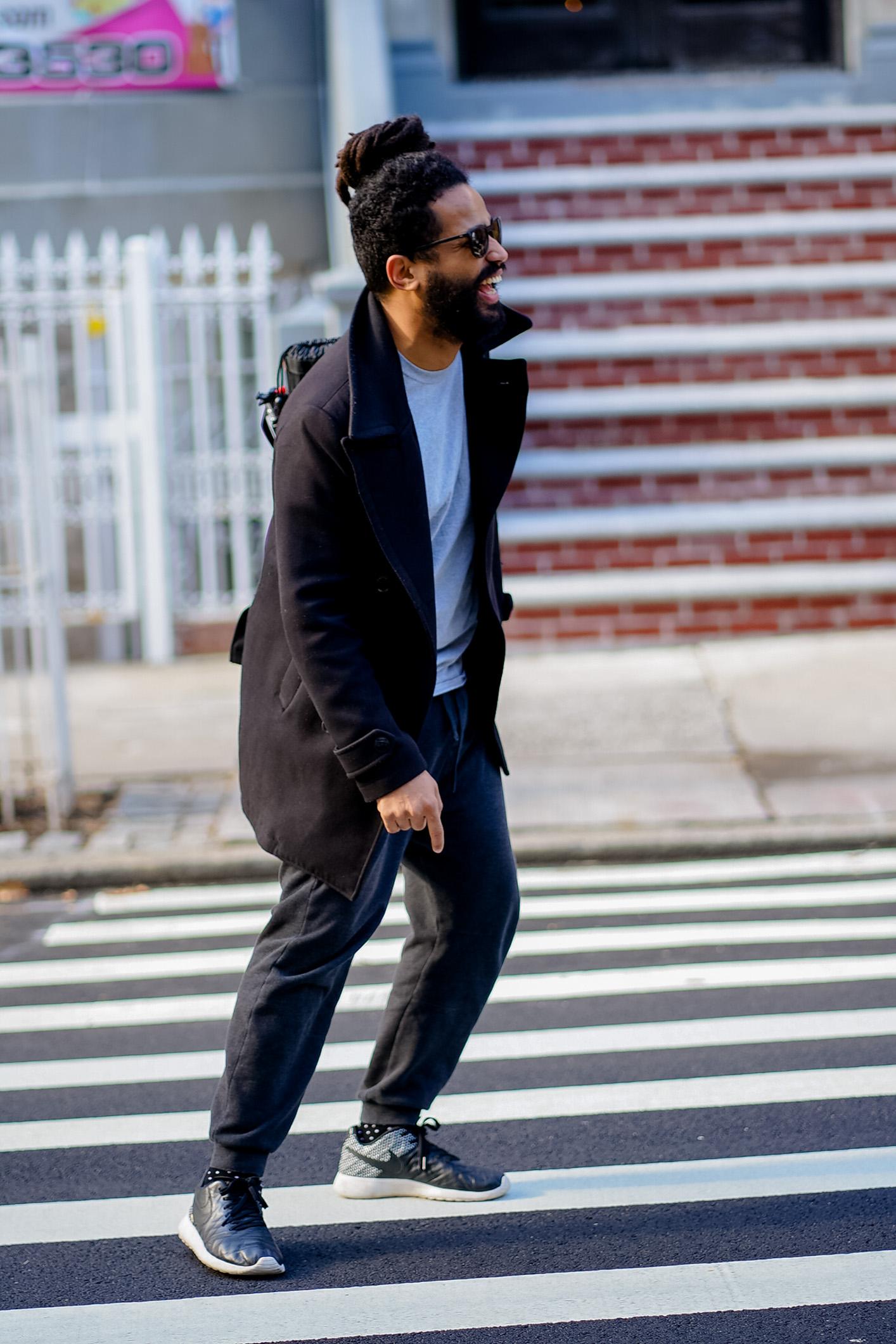 Baéz in Washington Heights, NYC, 2019. Portrait by Magdiel Báez.