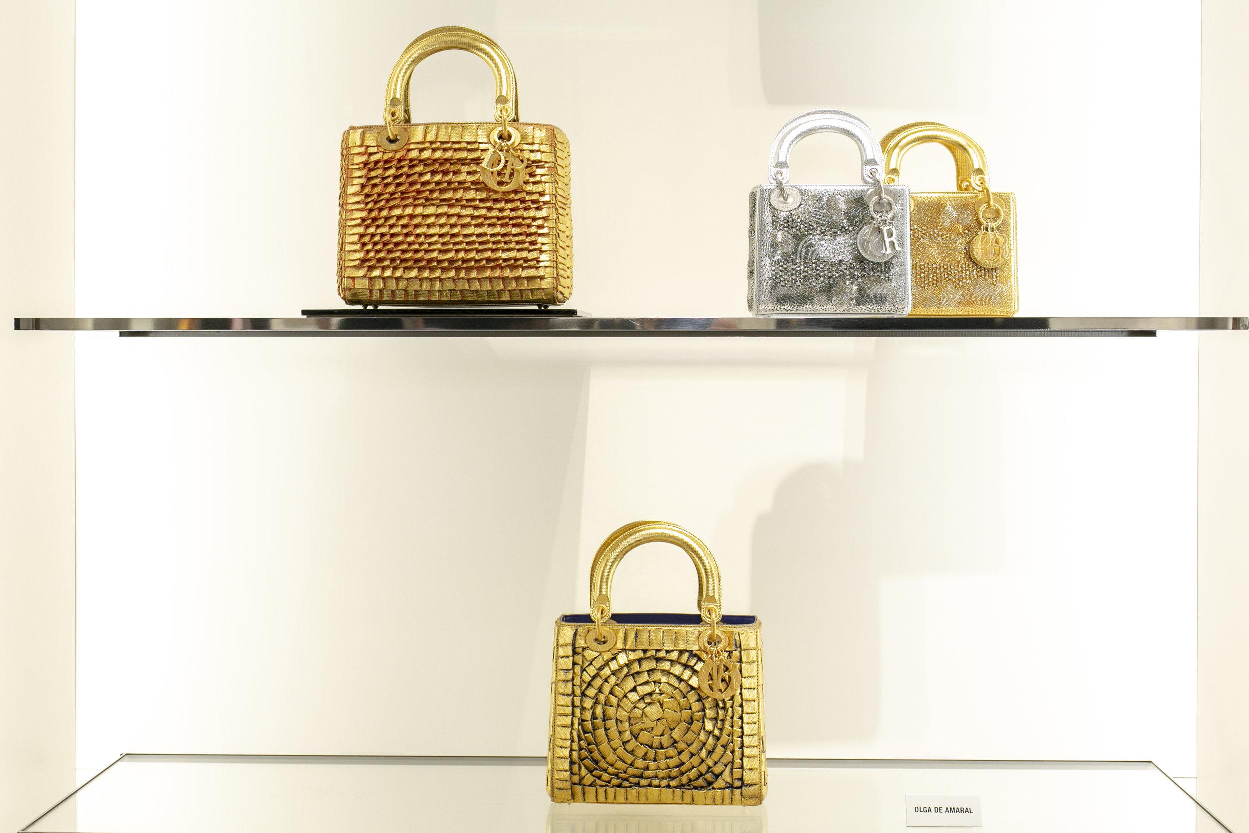 Lady Dior bag designed by Olga de Amaral. Photo by Richard Jopson.