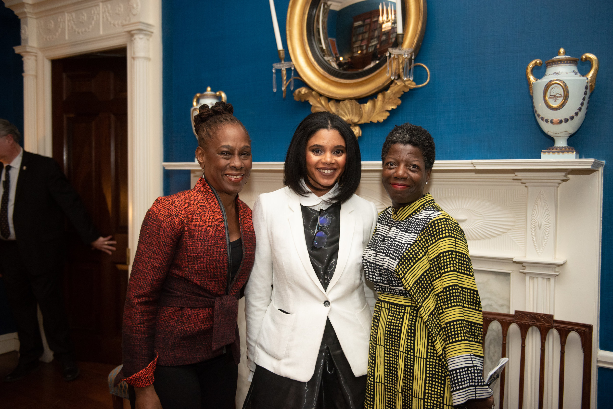 With Mayoral First Lady Chirlane McCray, Jessica Bell Brown, and Studio Museum in Harlem, Director/Chief Curator Thelma Golden. Michael Appleton/Mayoral Photography Office.