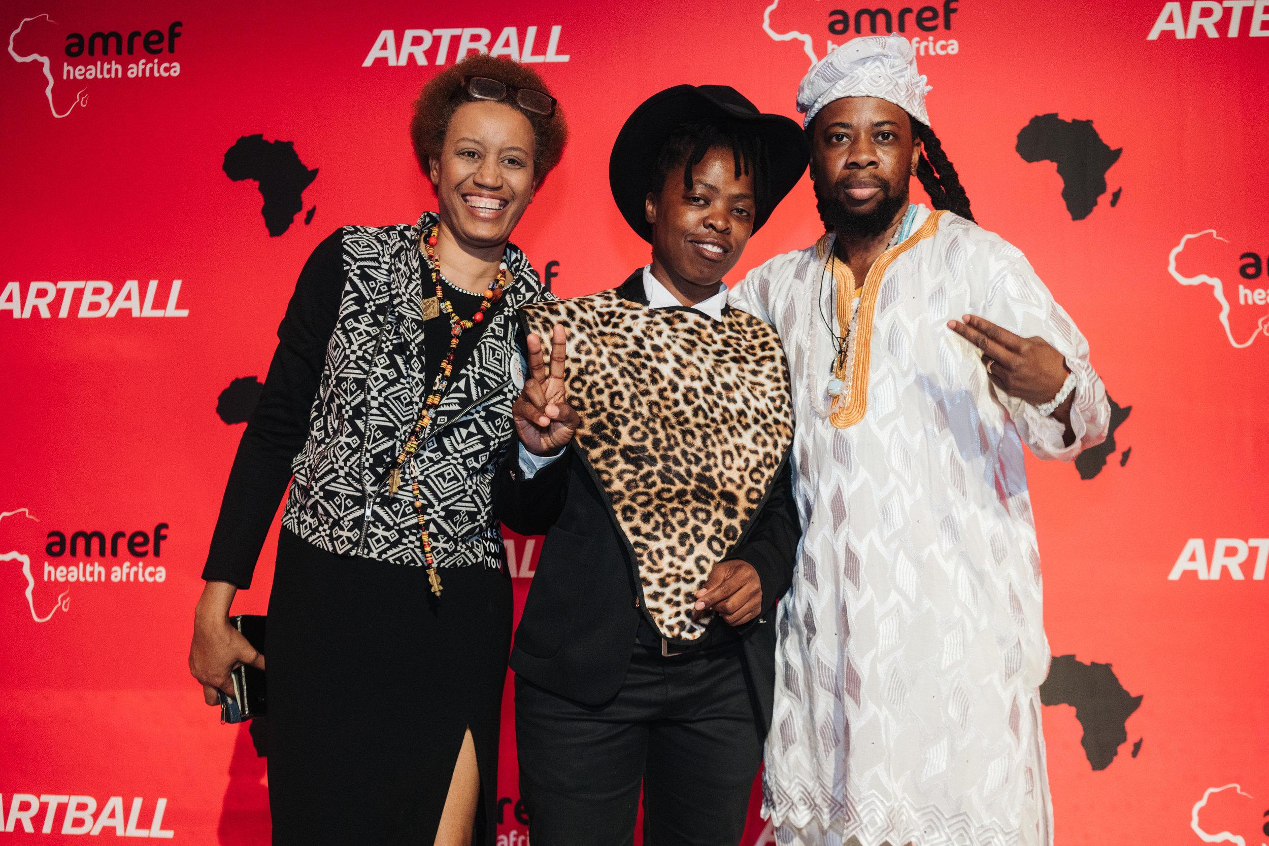 Atim Annette Oton, Zanele Muholi, Guest. Photo by Johana Rising.